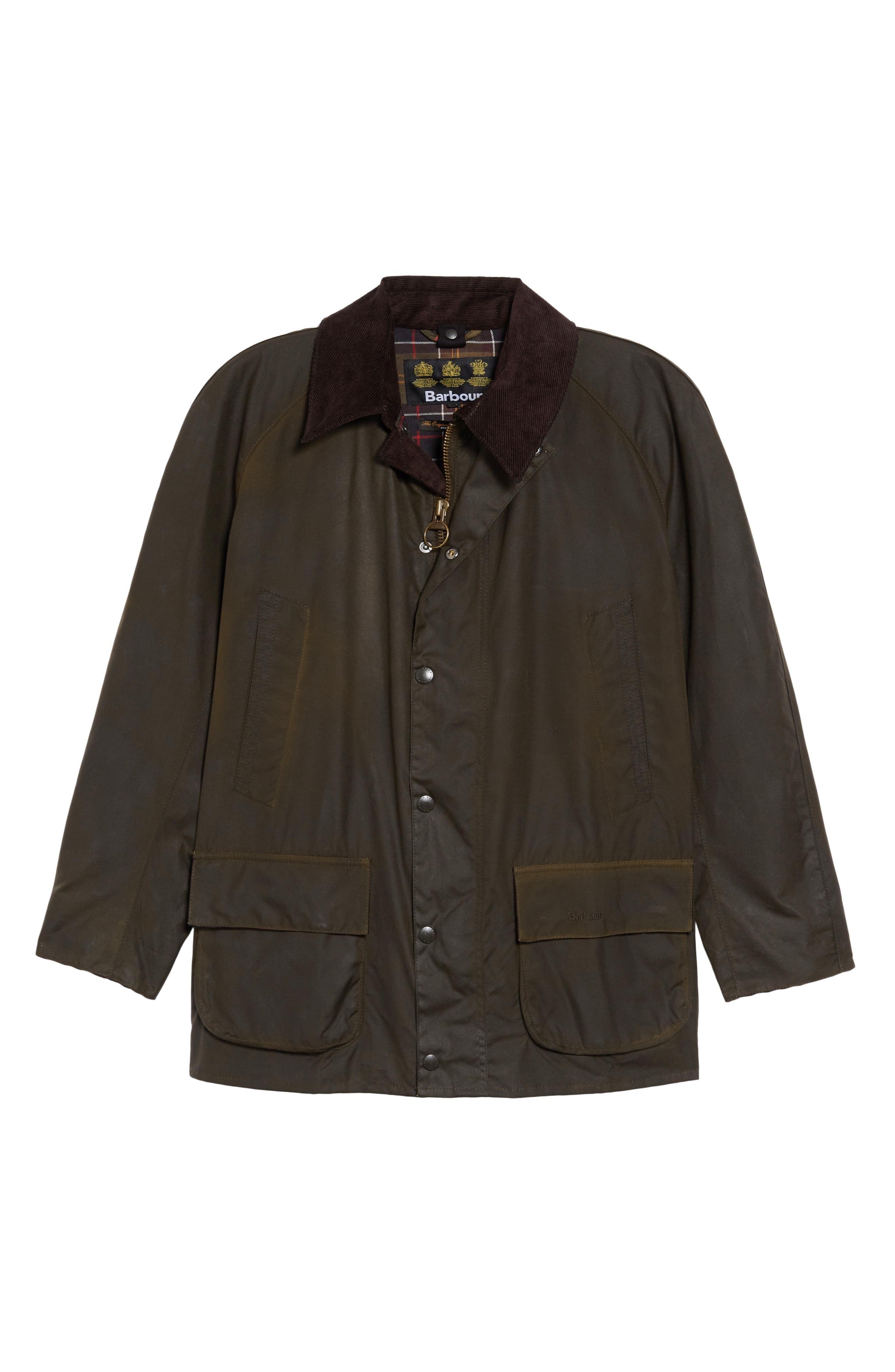Bristol Wax Coated Jacket,                             Alternate thumbnail 5, color,                             OLIVE