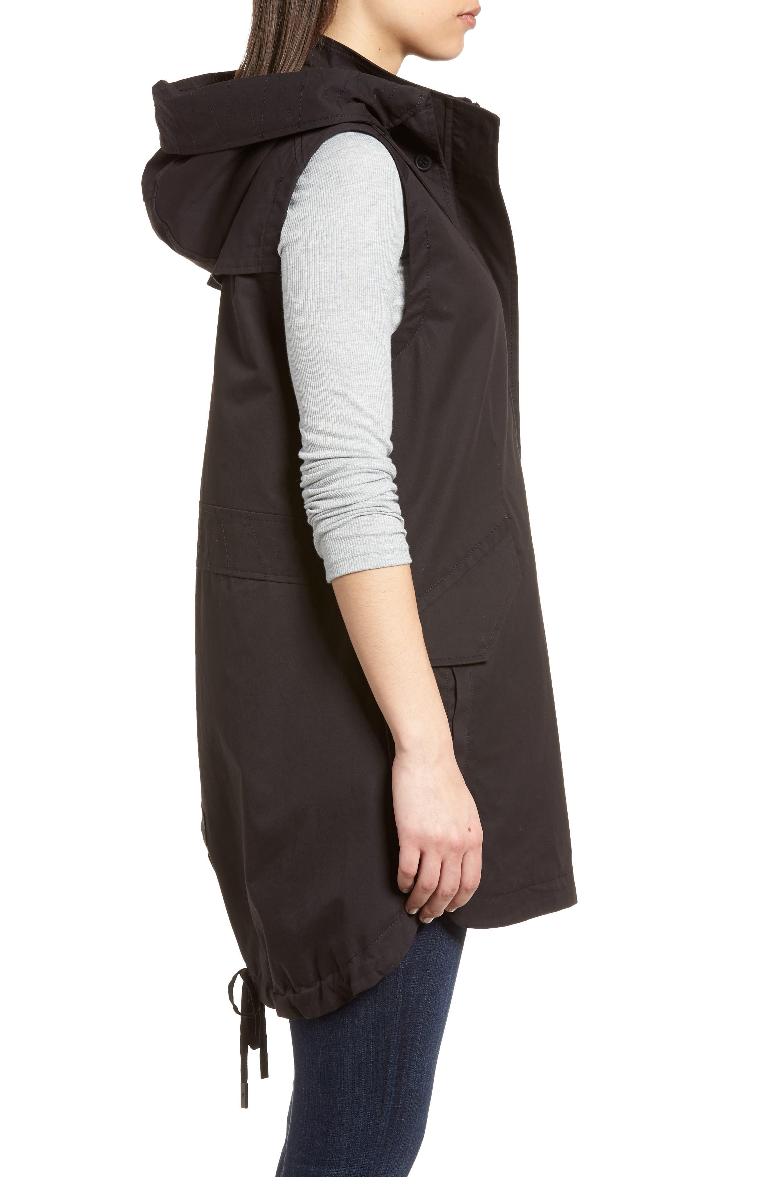 Elongated Hooded Vest,                             Alternate thumbnail 3, color,                             001