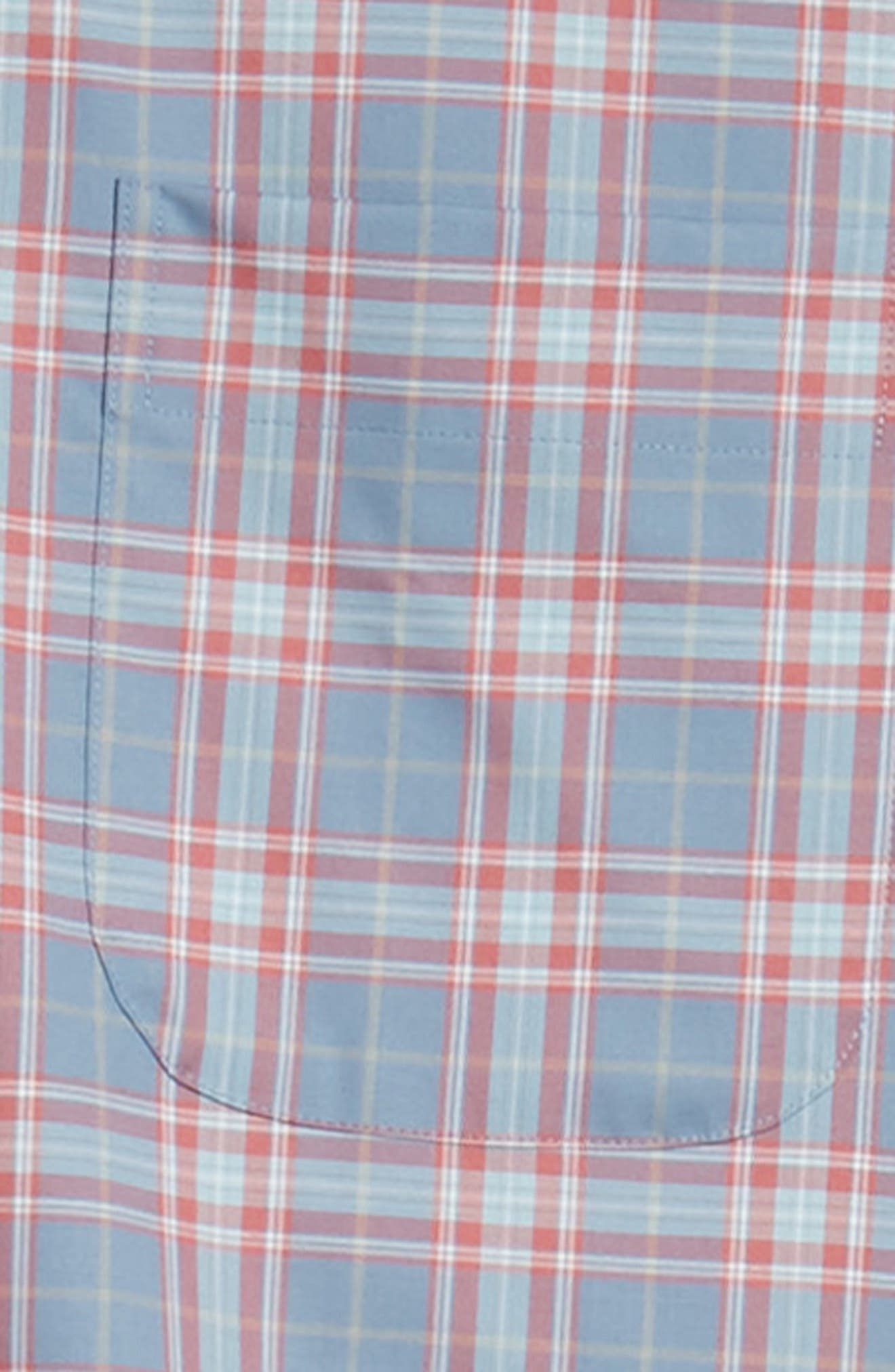 Crown Ease Archipelago Regular Fit Plaid Sport Shirt,                             Alternate thumbnail 6, color,                             524