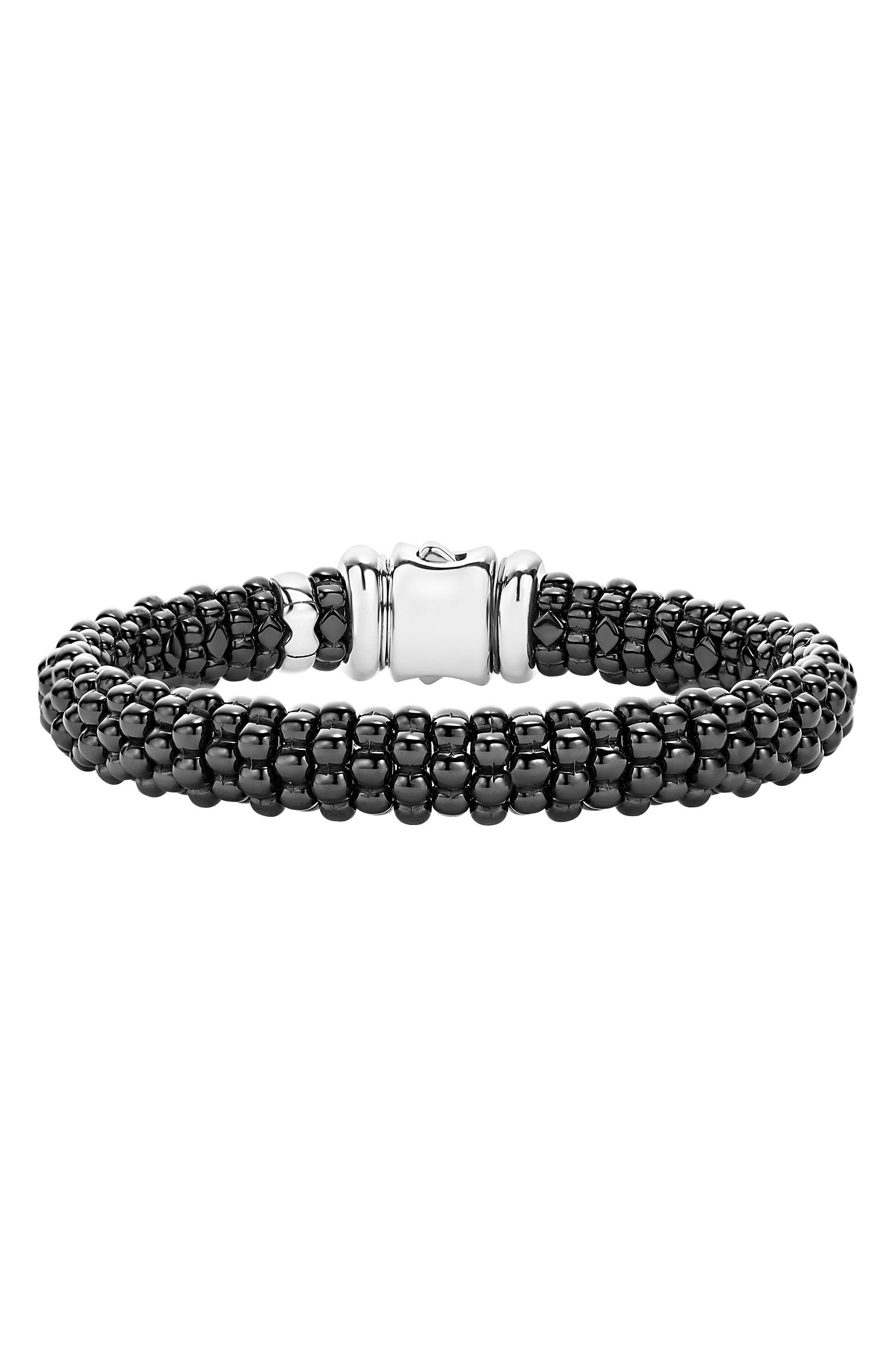 LAGOS Black Caviar Bracelet, Main, color, BLACK CAVIAR