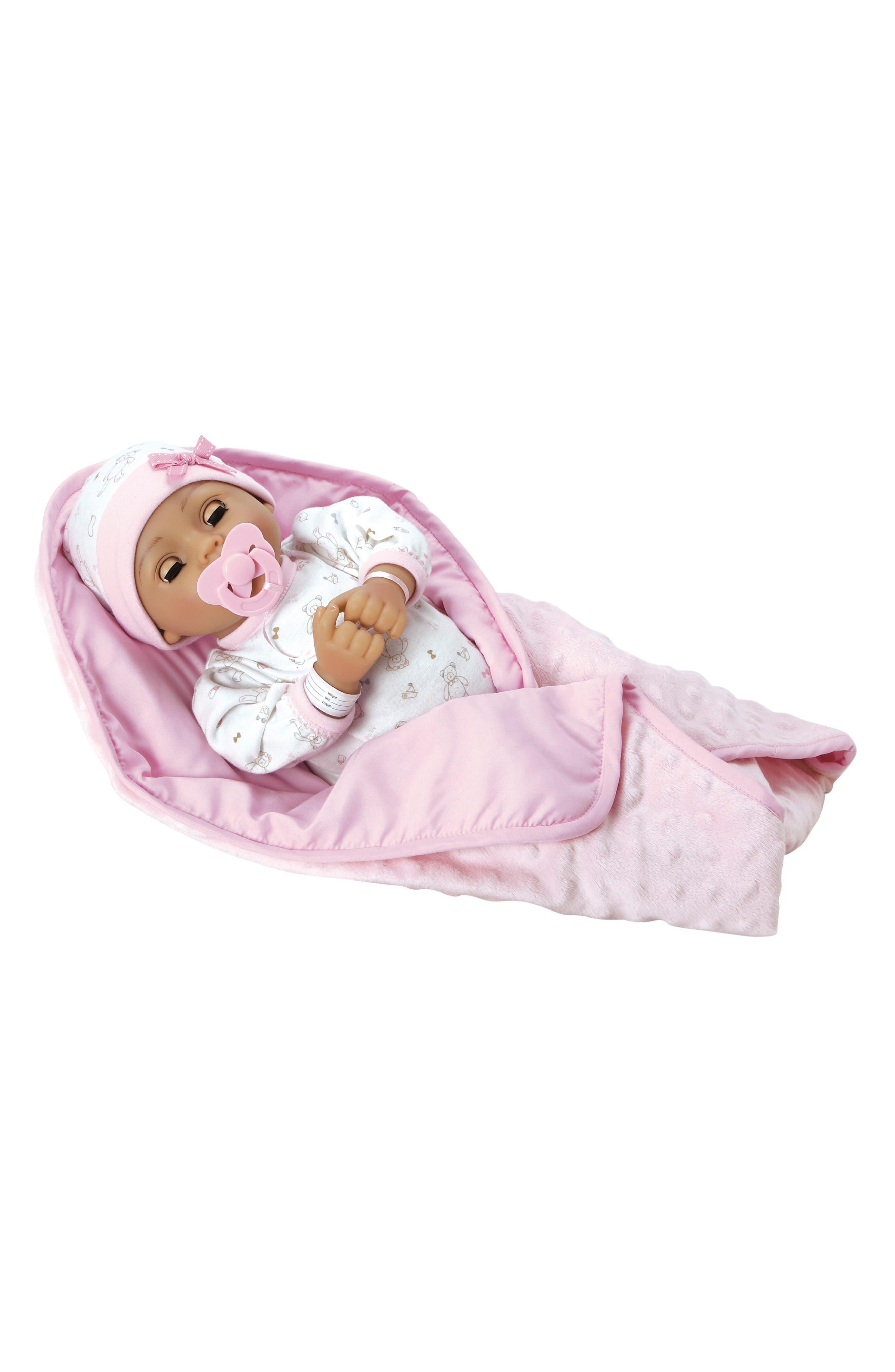 Girls Adora Precious Baby Doll With Adoption Certificate