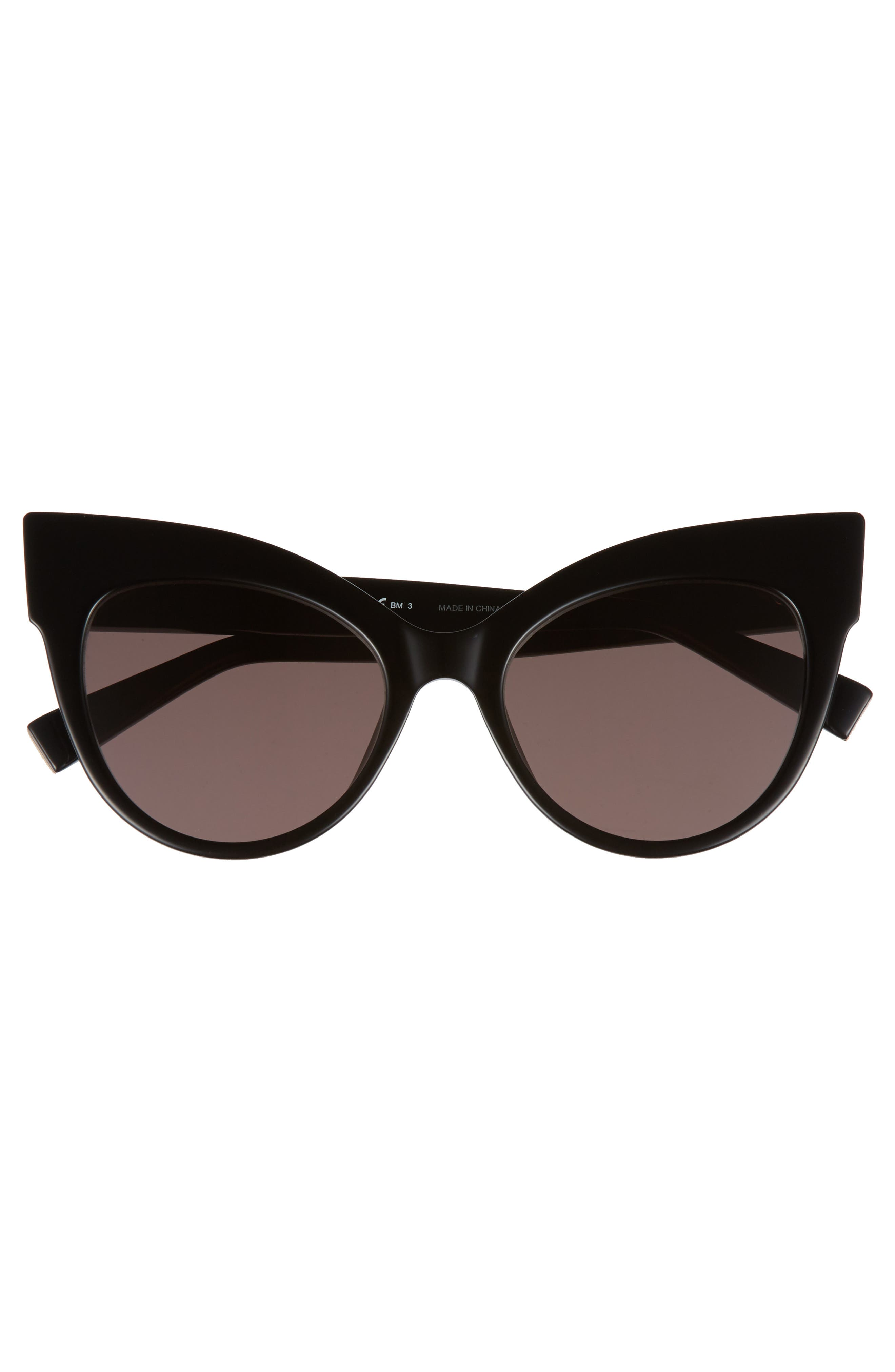 Anita 52mm Cat Eye Sunglasses,                             Alternate thumbnail 3, color,                             001