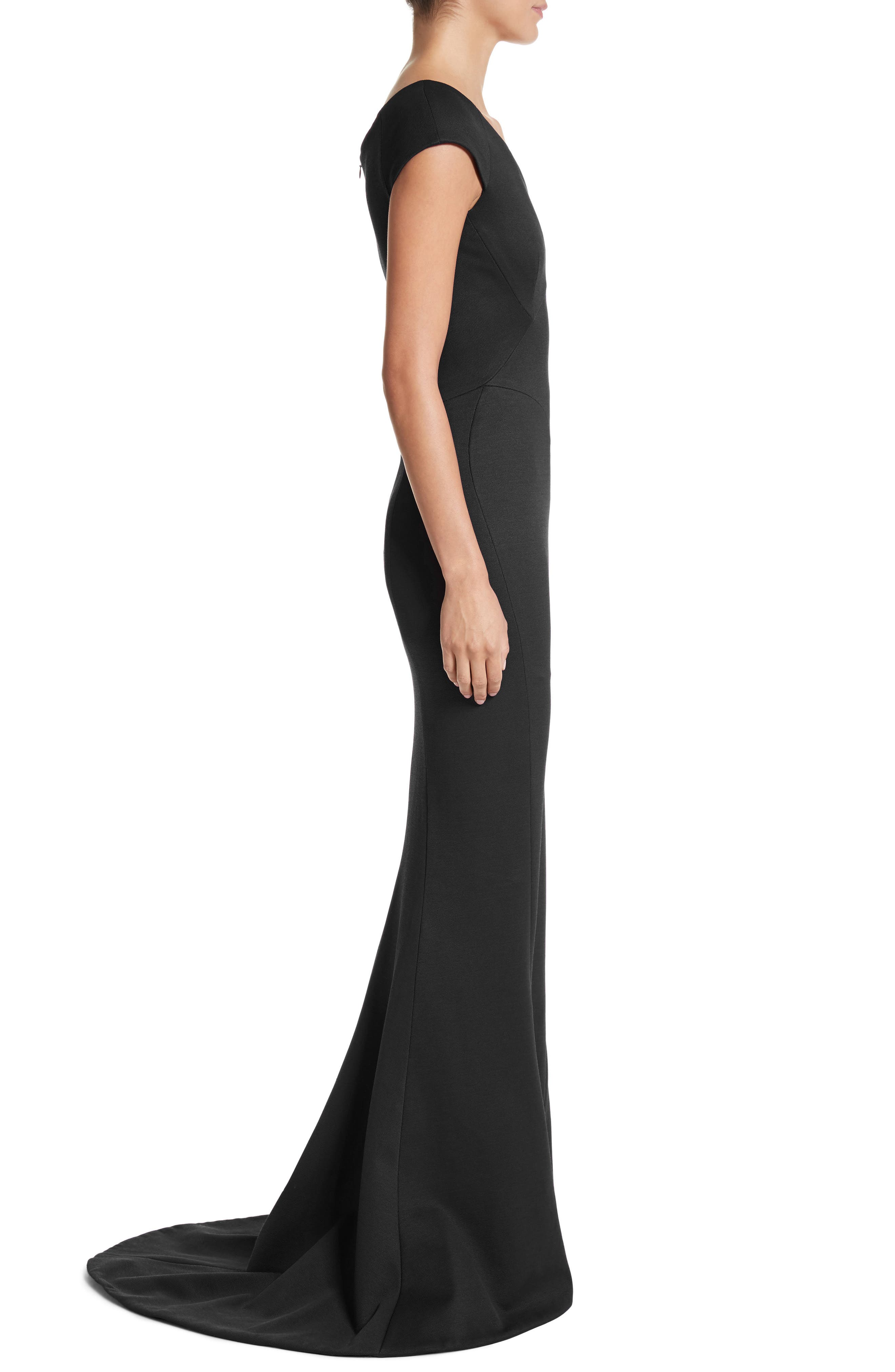 Bonded Jersey Mermaid Gown,                             Alternate thumbnail 5, color,