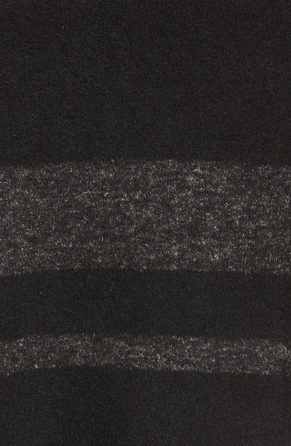 Stripe Wool Blend Scarf,                             Alternate thumbnail 2, color,                             001