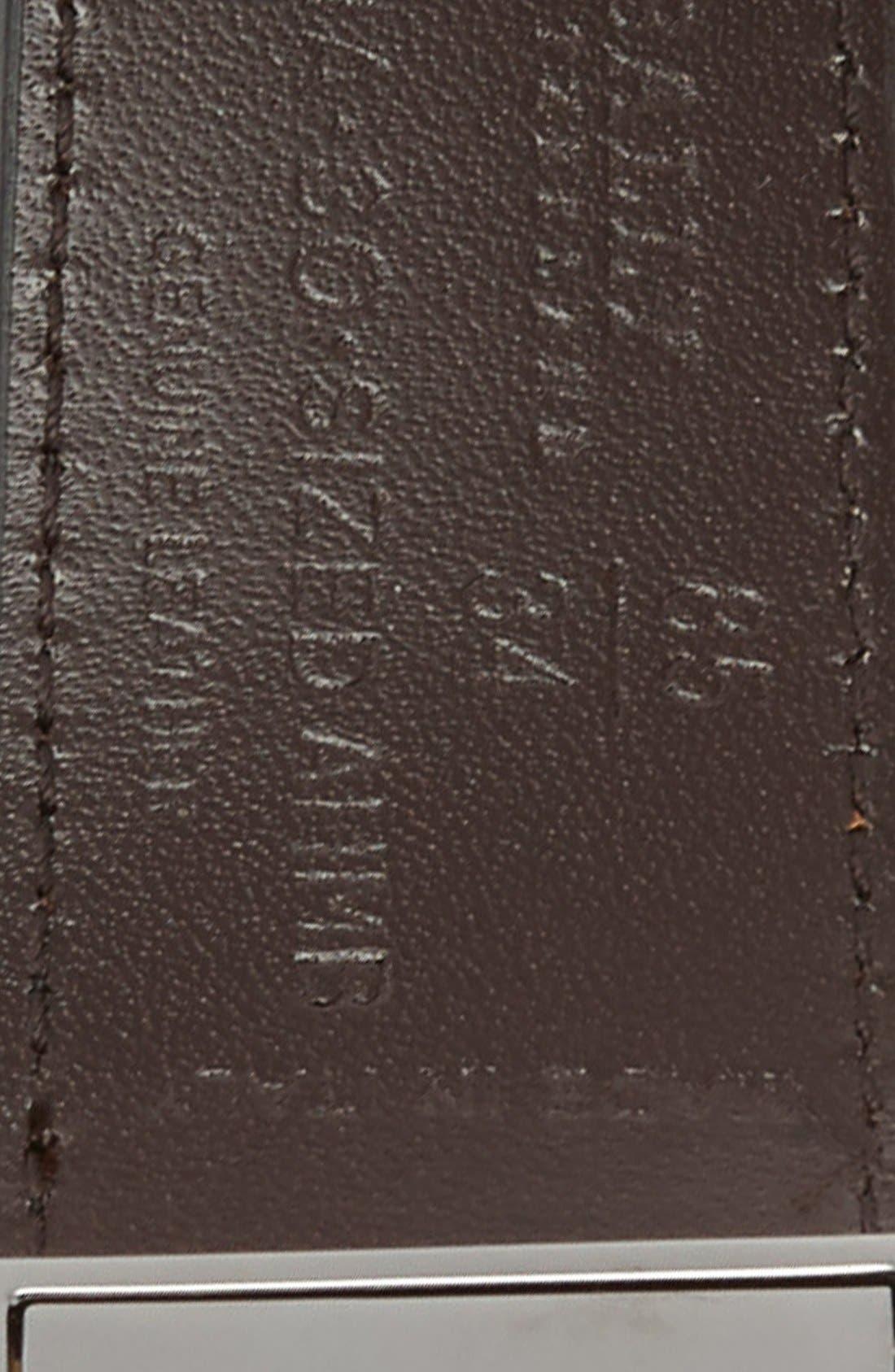 Reversible Calfskin Belt,                             Alternate thumbnail 2, color,                             001