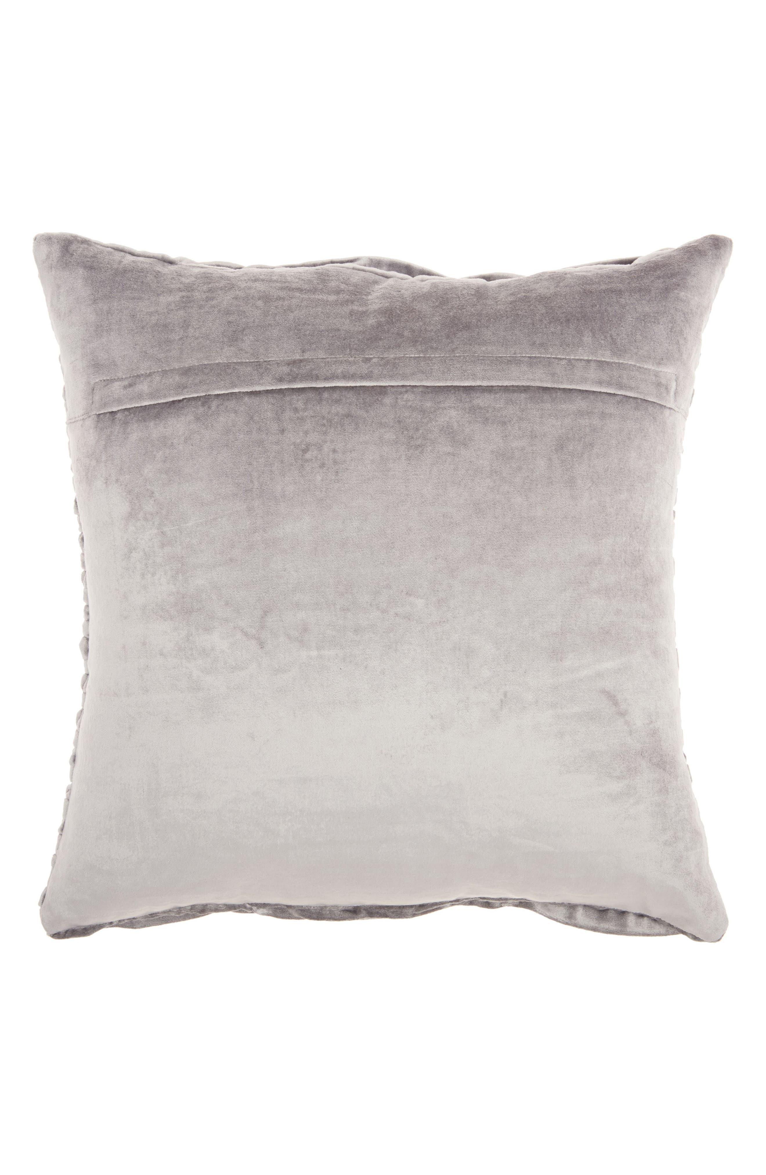 Pleated Velvet Accent Pillow,                             Alternate thumbnail 2, color,                             020