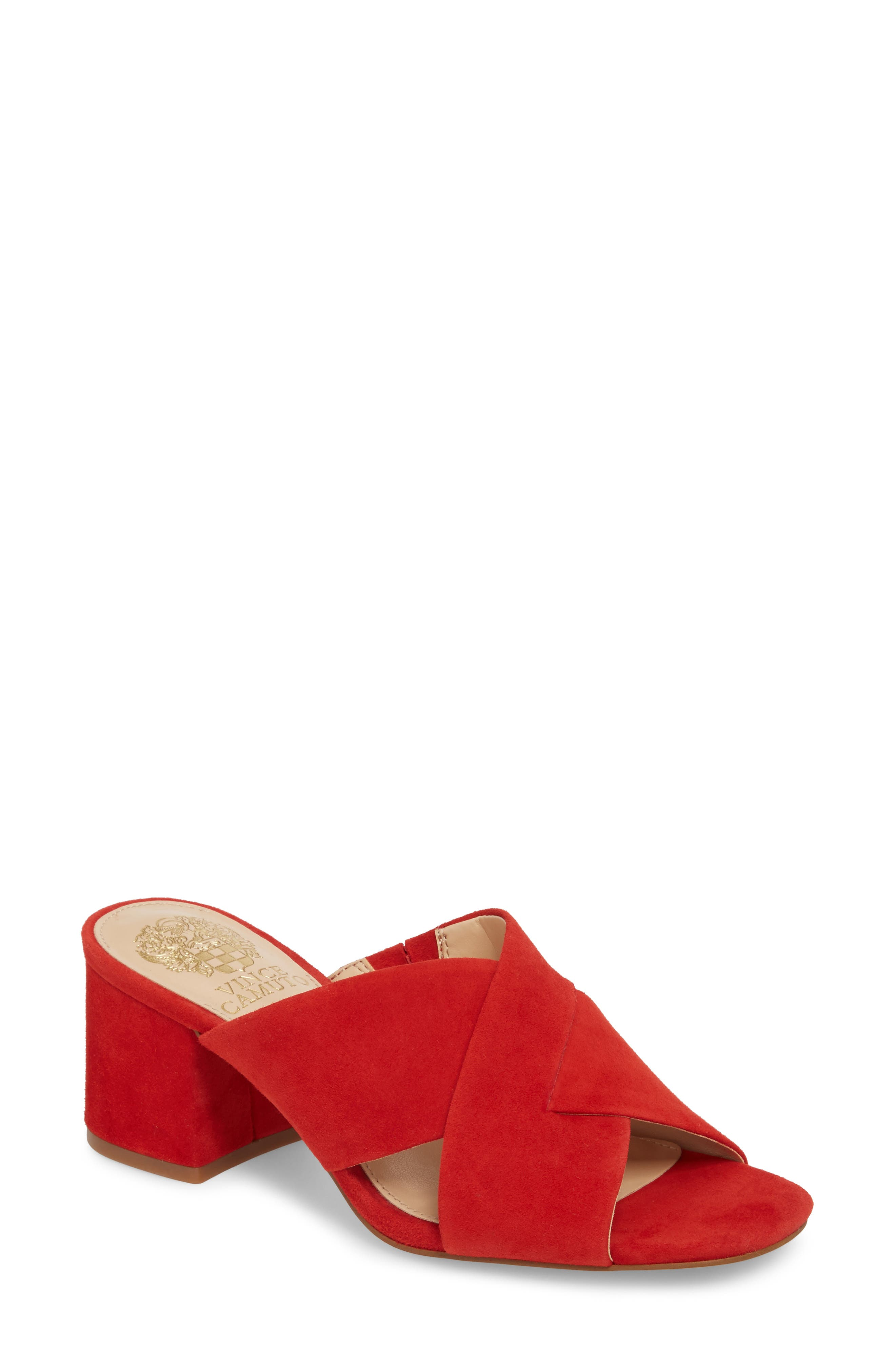 Stania Sandal,                         Main,                         color, RED HOT RIO SUEDE