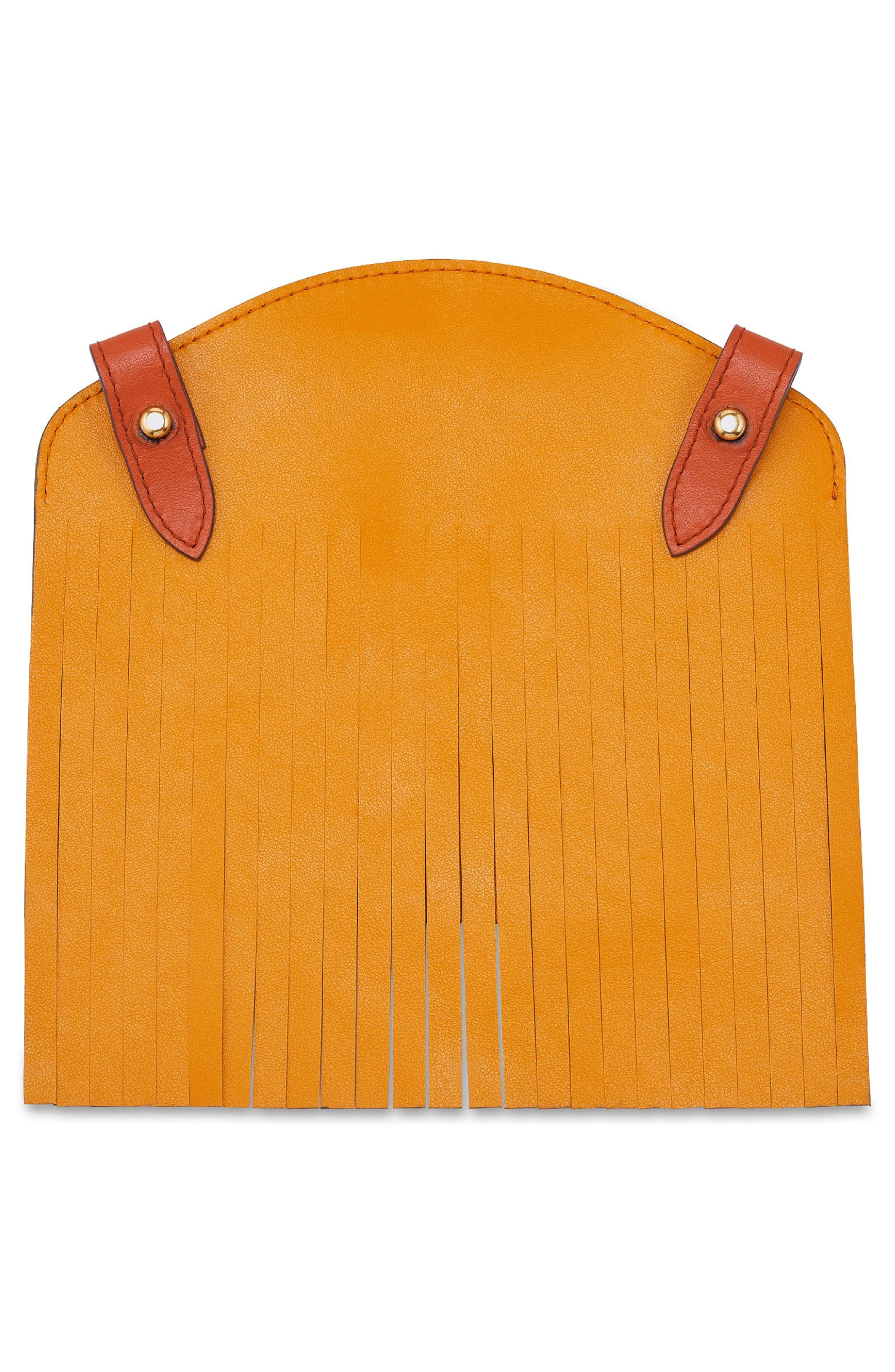 Build a Bag Fringe Leather Panels,                             Alternate thumbnail 6, color,