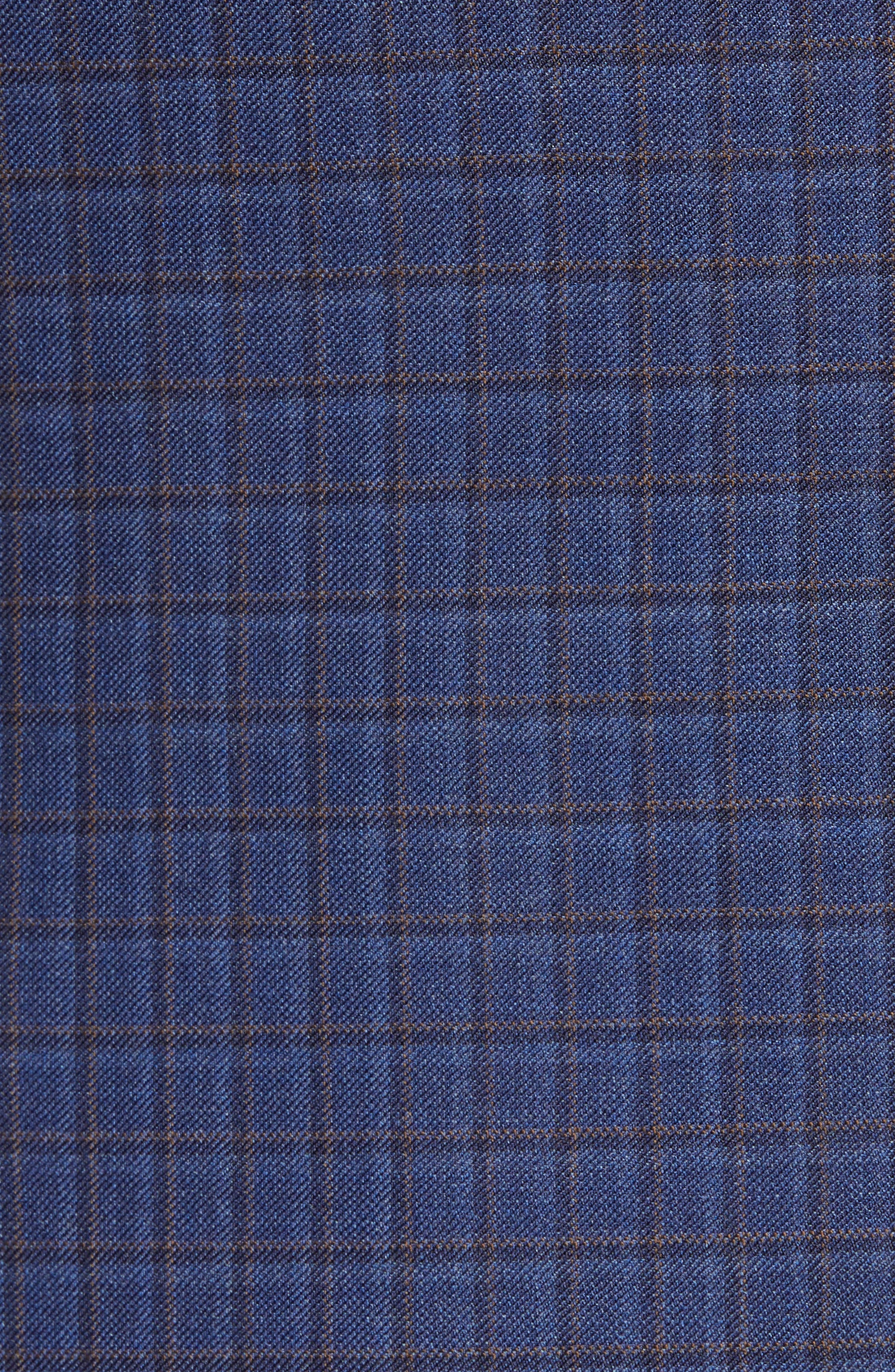 Connor Classic Fit Check Wool Sport Coat,                             Alternate thumbnail 6, color,                             BLUE