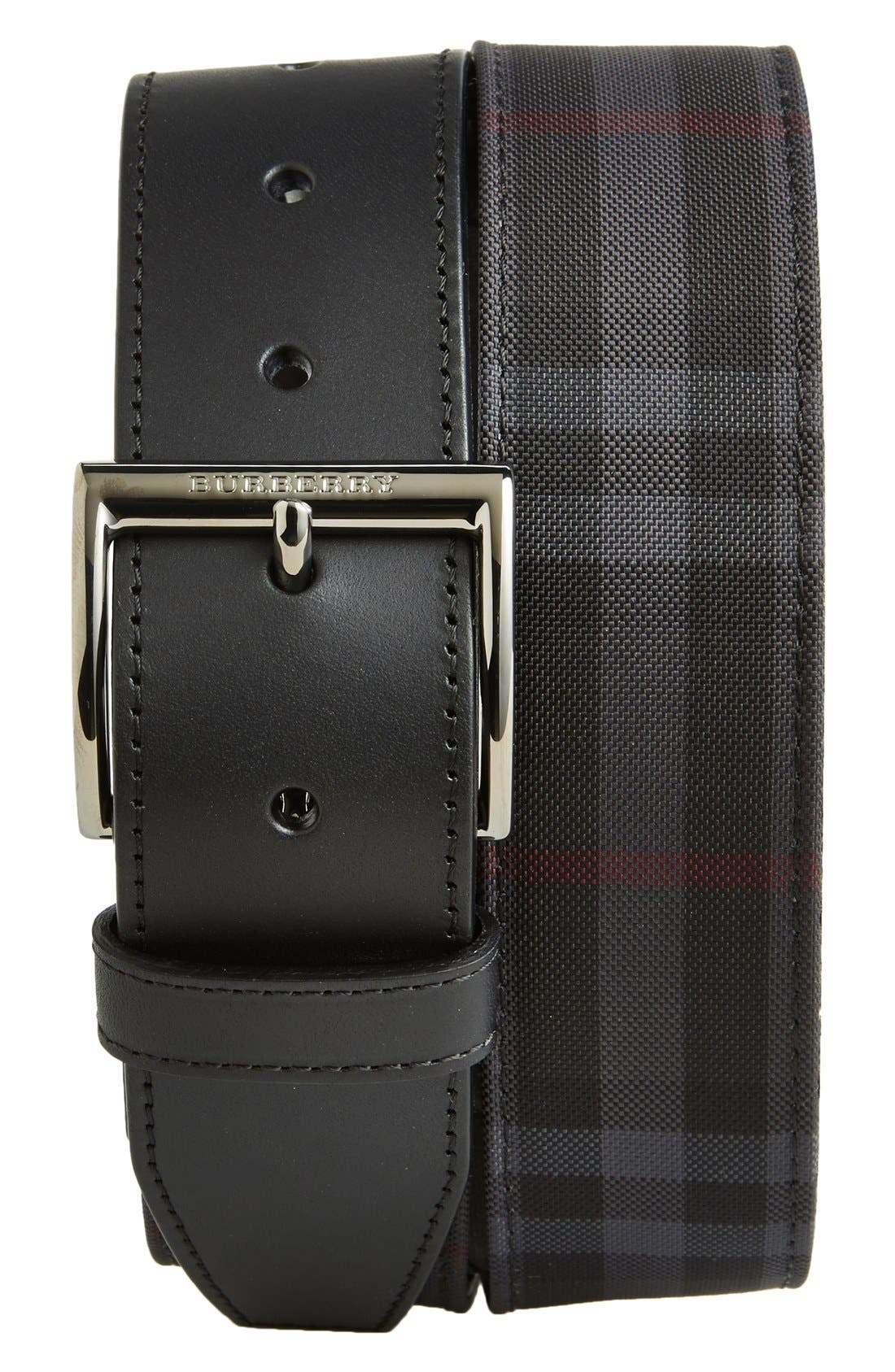'Horseferry' Check Belt,                             Main thumbnail 1, color,                             001