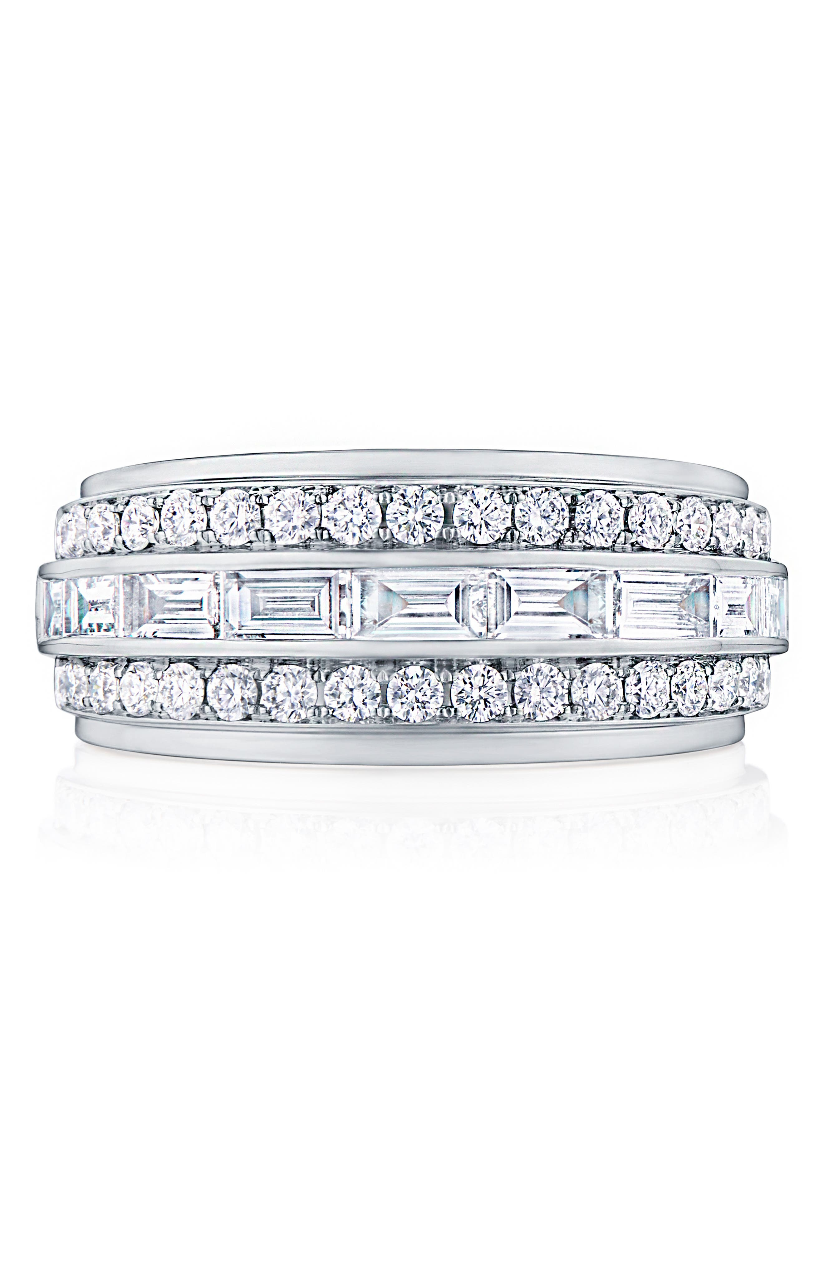 KWIAT Duet Diamond Ring, Main, color, WHITE GOLD