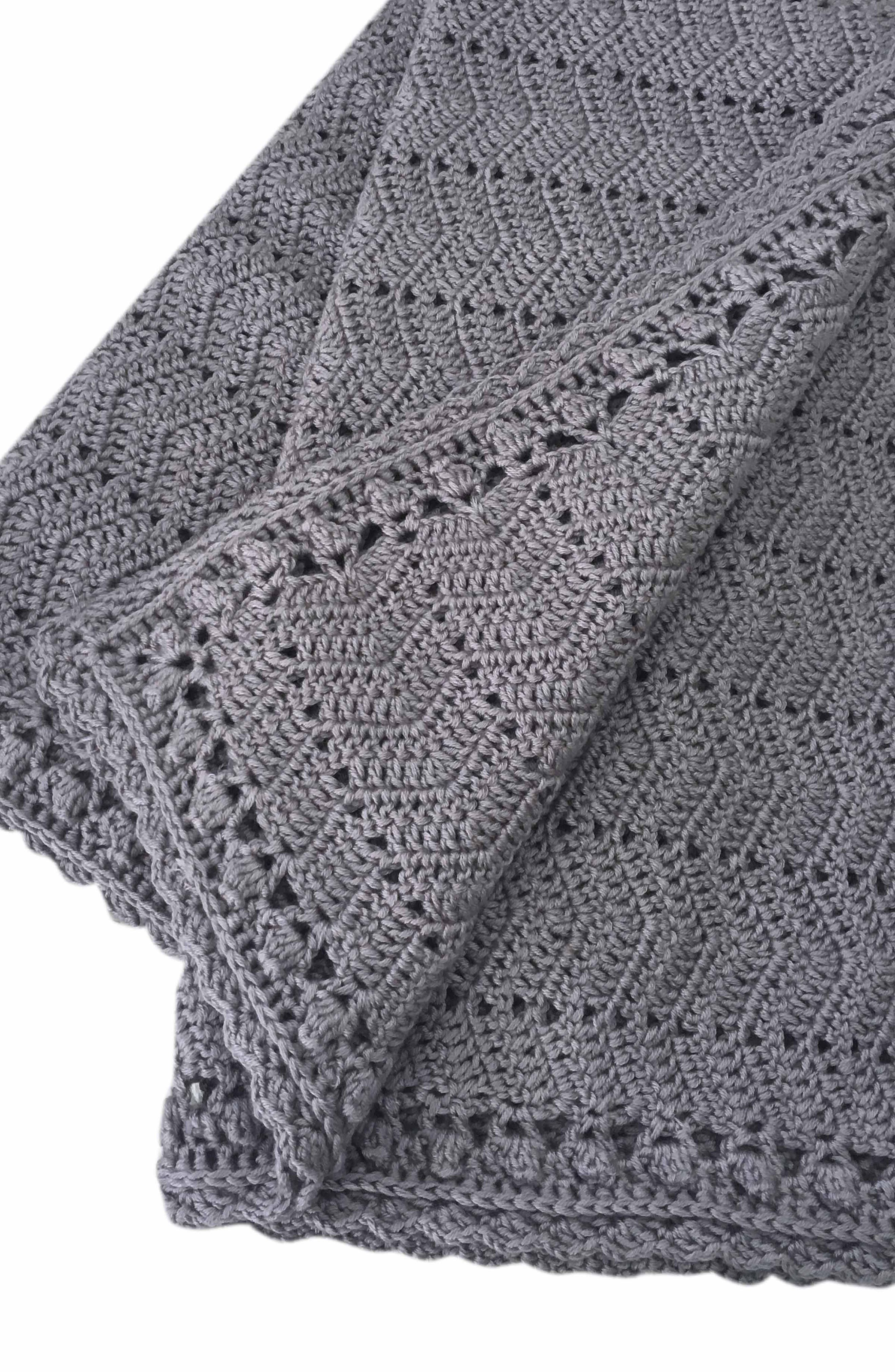 Ripple Crocheted Blanket,                         Main,                         color, 020