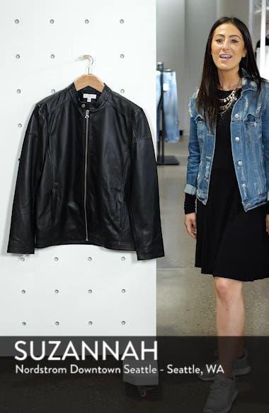 Leather Moto Jacket, sales video thumbnail