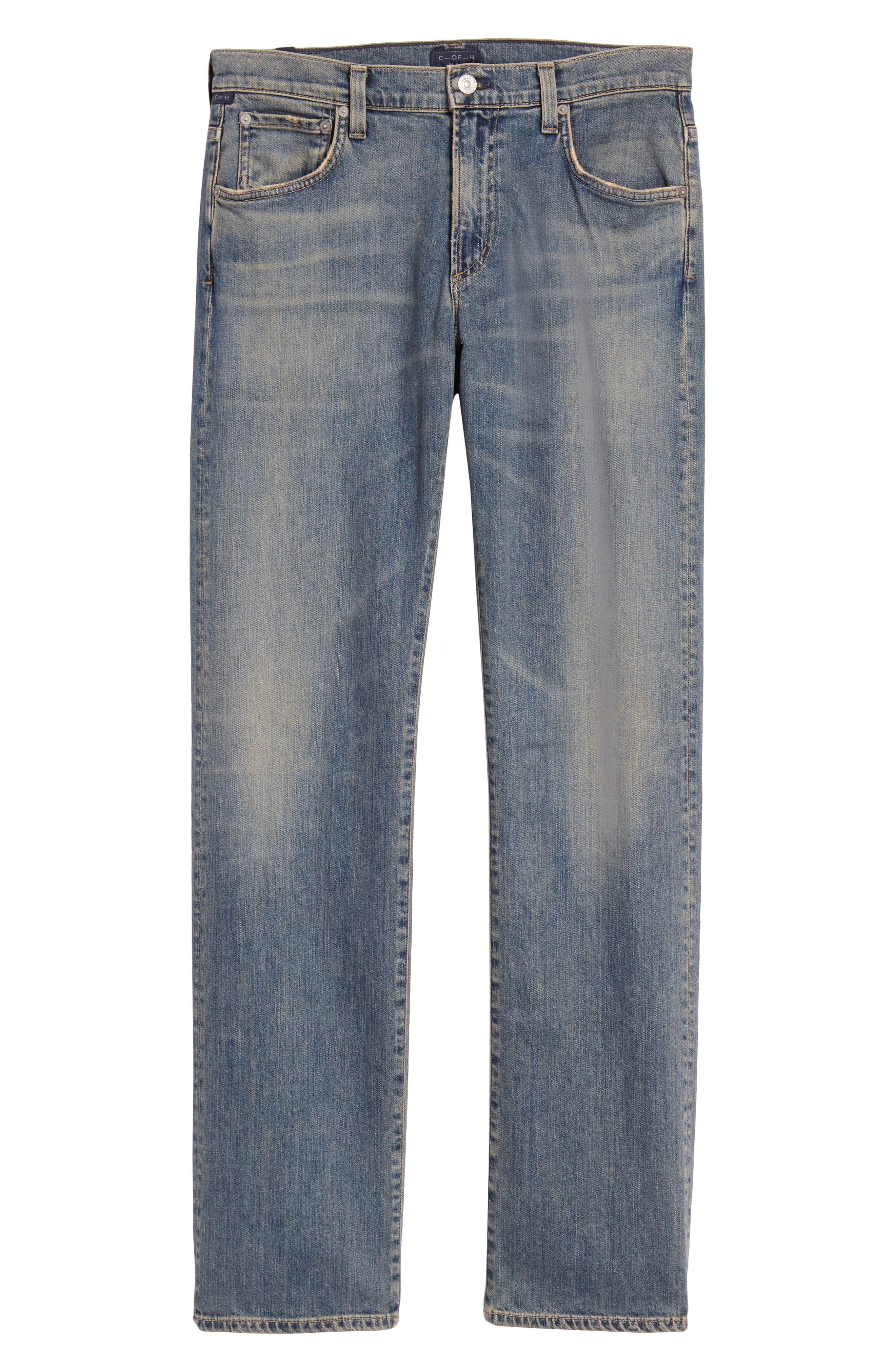 Sid Straight Leg Jeans,                             Alternate thumbnail 6, color,                             URIEL