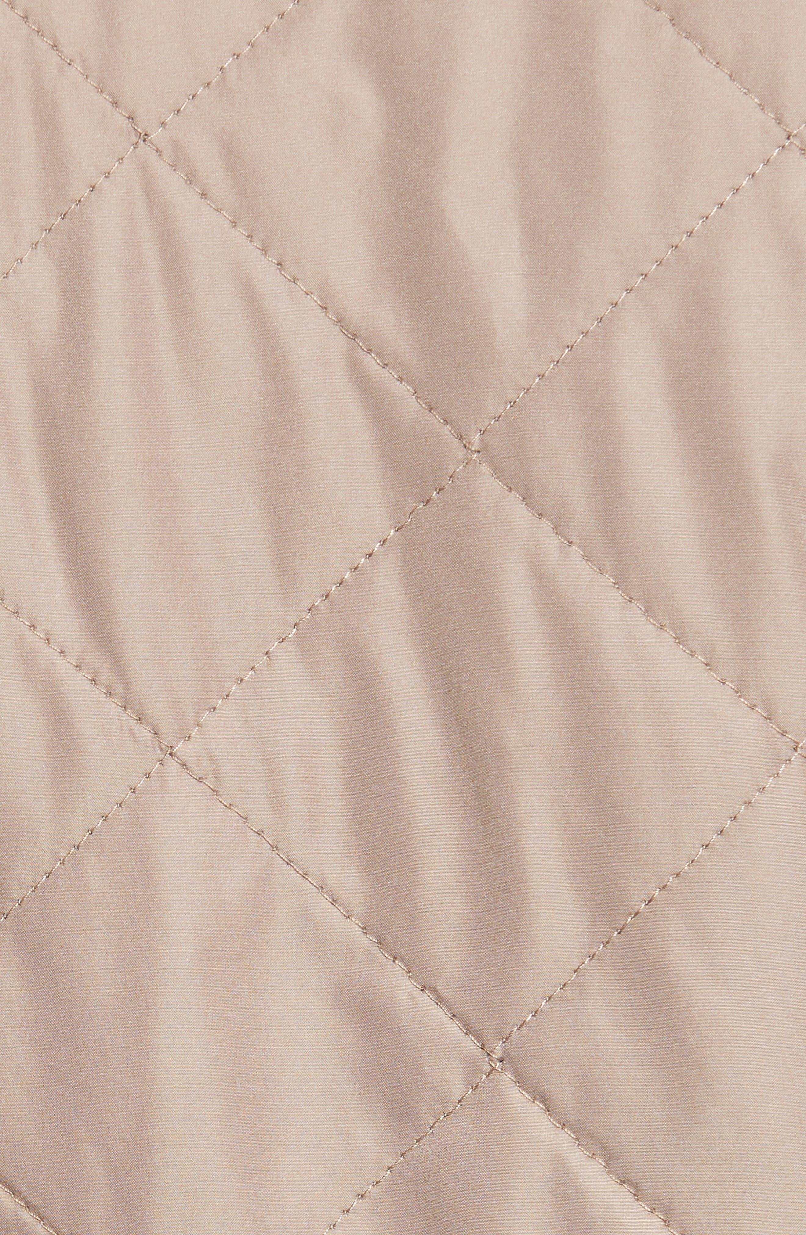 Reversible Fleece Lined Quilted Vest,                             Alternate thumbnail 8, color,                             MUSHROOM
