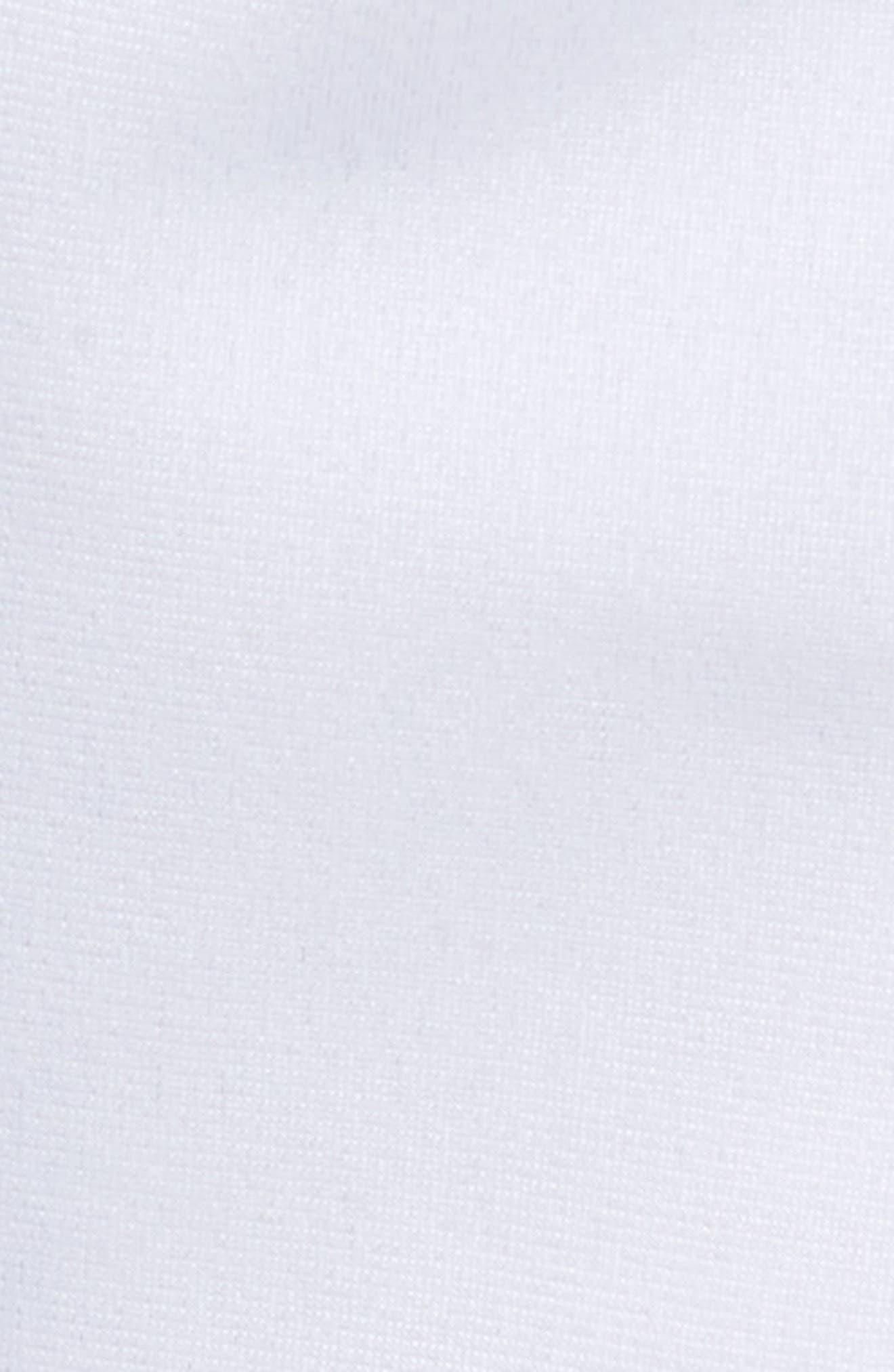 Active Banded Track Pants,                             Alternate thumbnail 5, color,                             WHITE/ BLACK