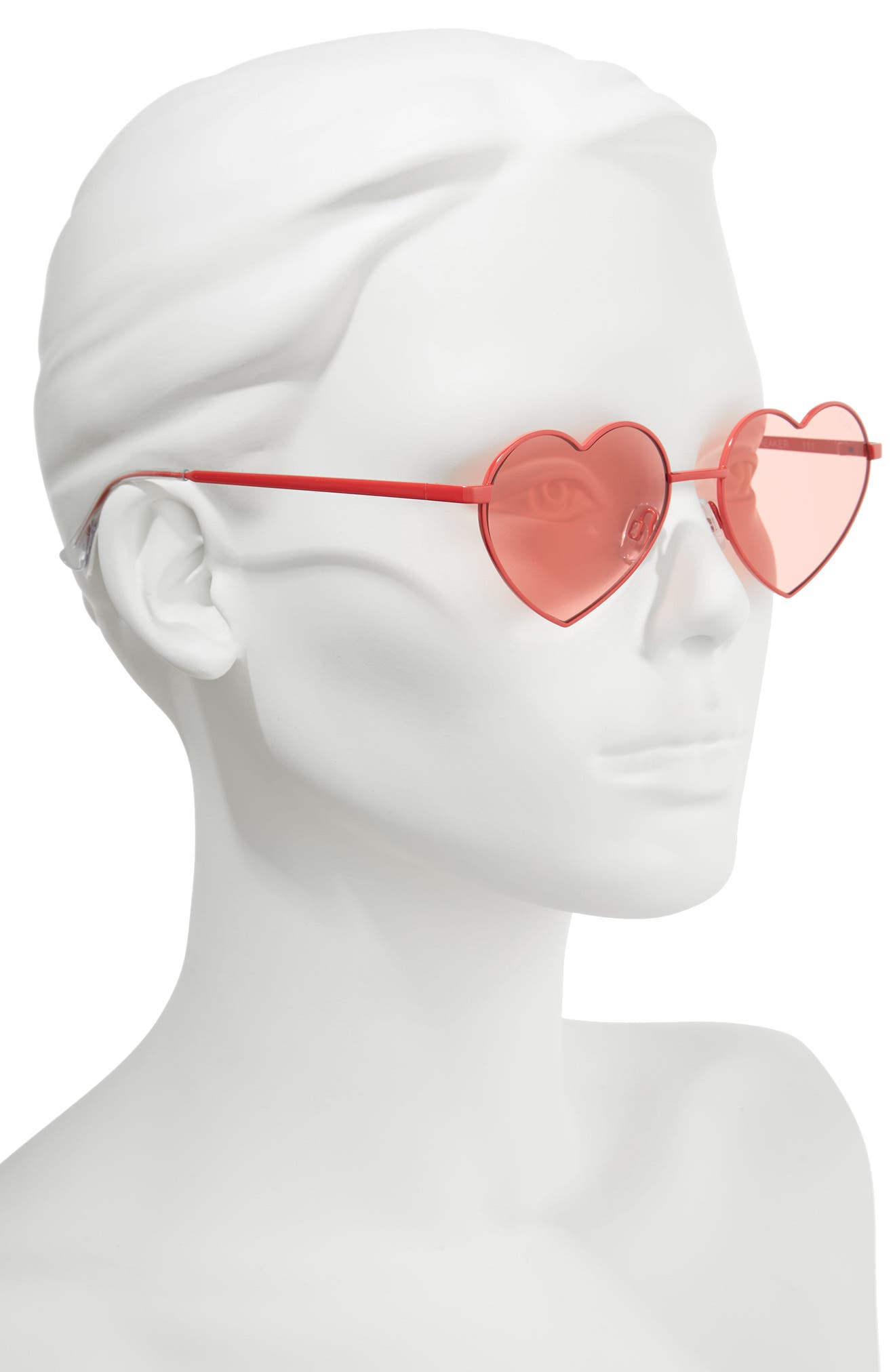 53mm Heart Breaker Heart-Shaped Sunglasses,                             Alternate thumbnail 2, color,                             621