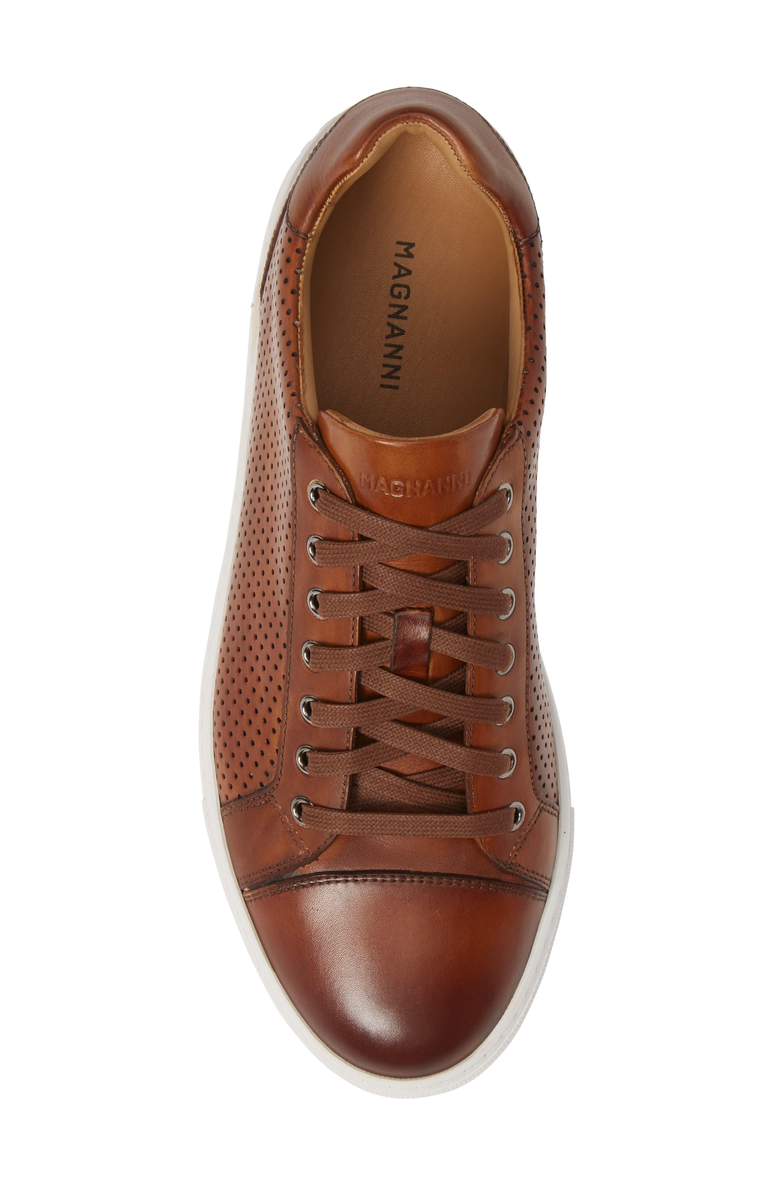 Jackson Sneaker,                             Alternate thumbnail 5, color,                             COGNAC LEATHER