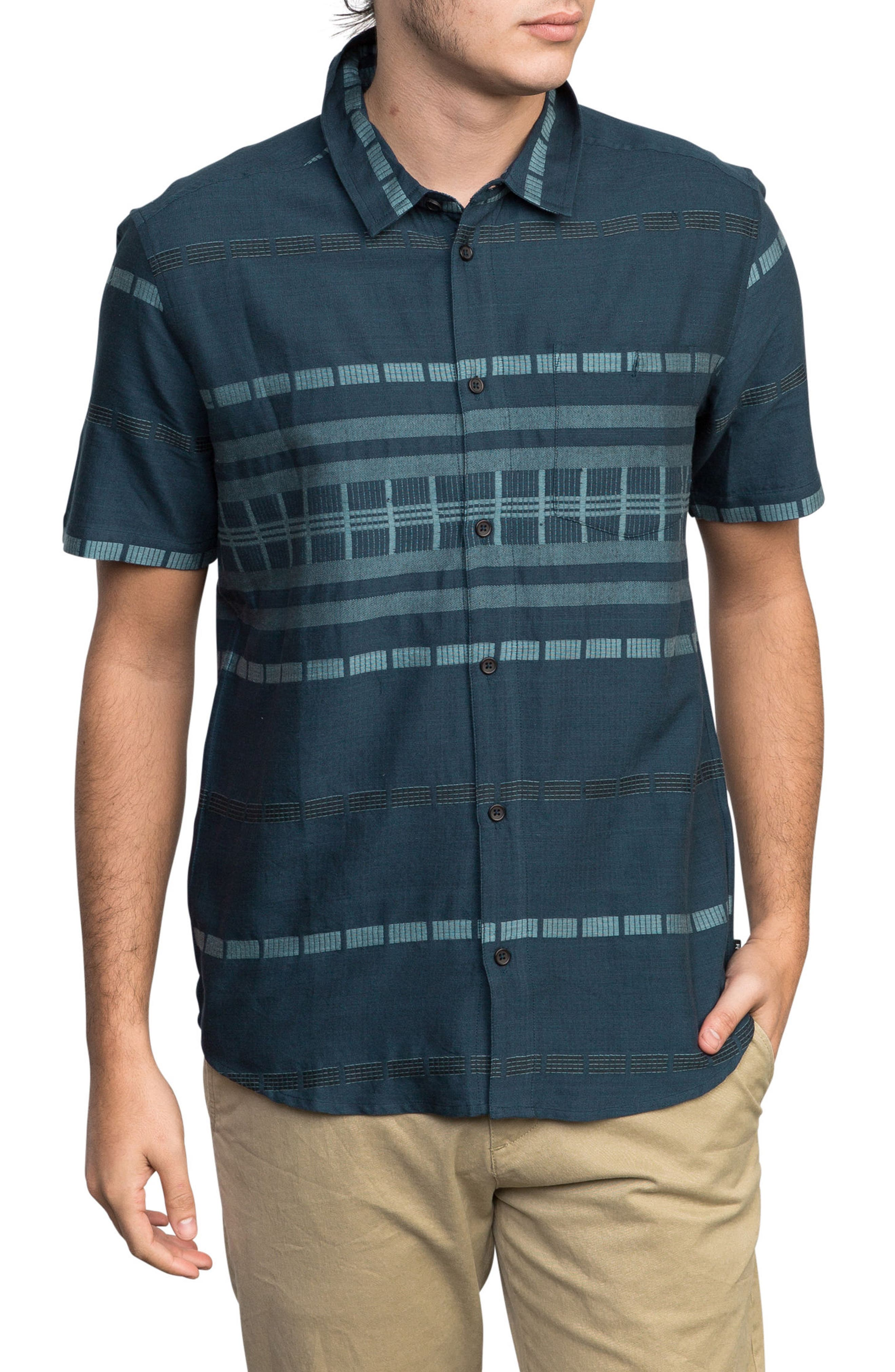 RVCA Krazy Kat Woven Shirt, Main, color, 415