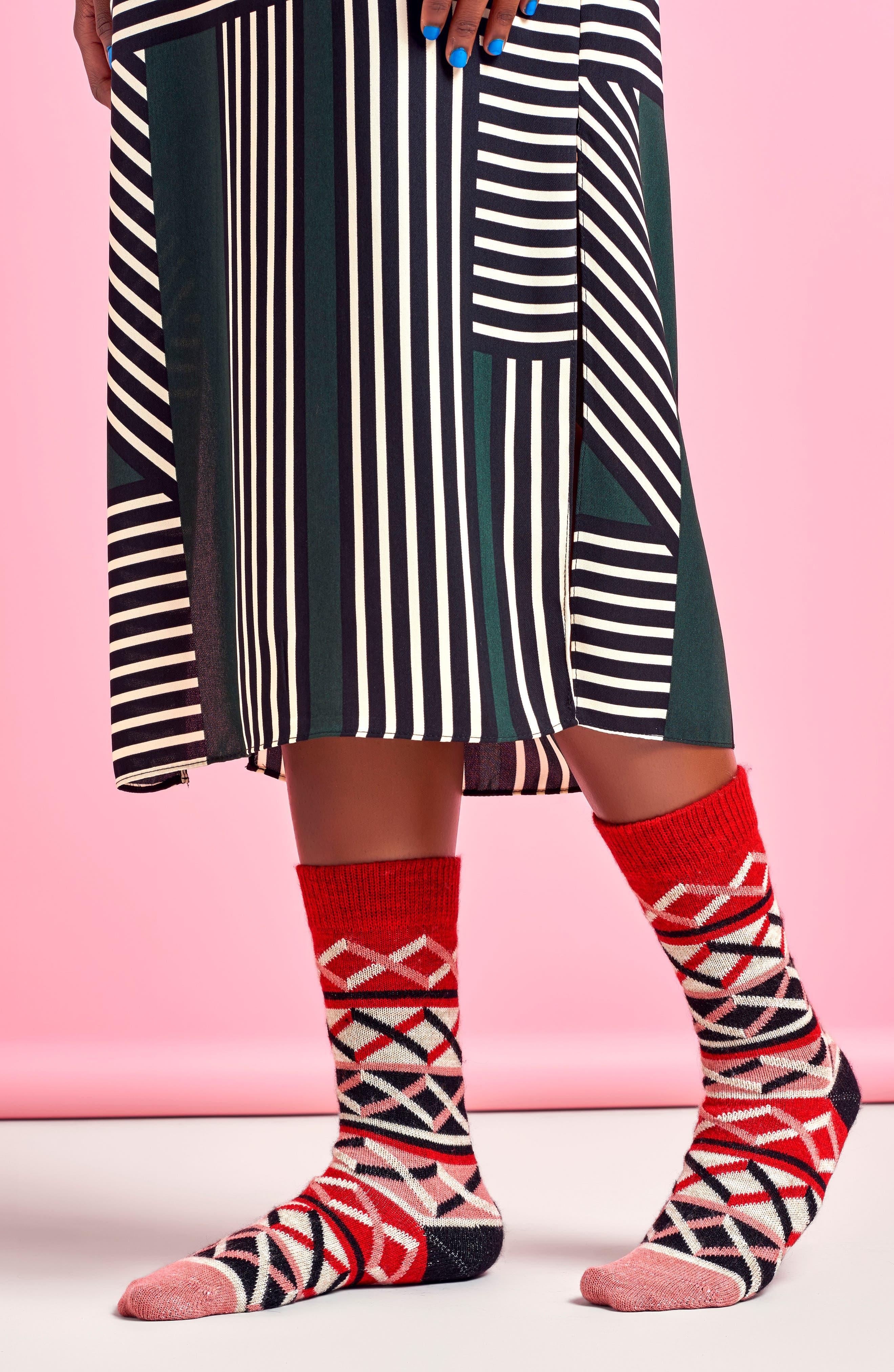 Ellinor Crew Socks,                             Alternate thumbnail 6, color,