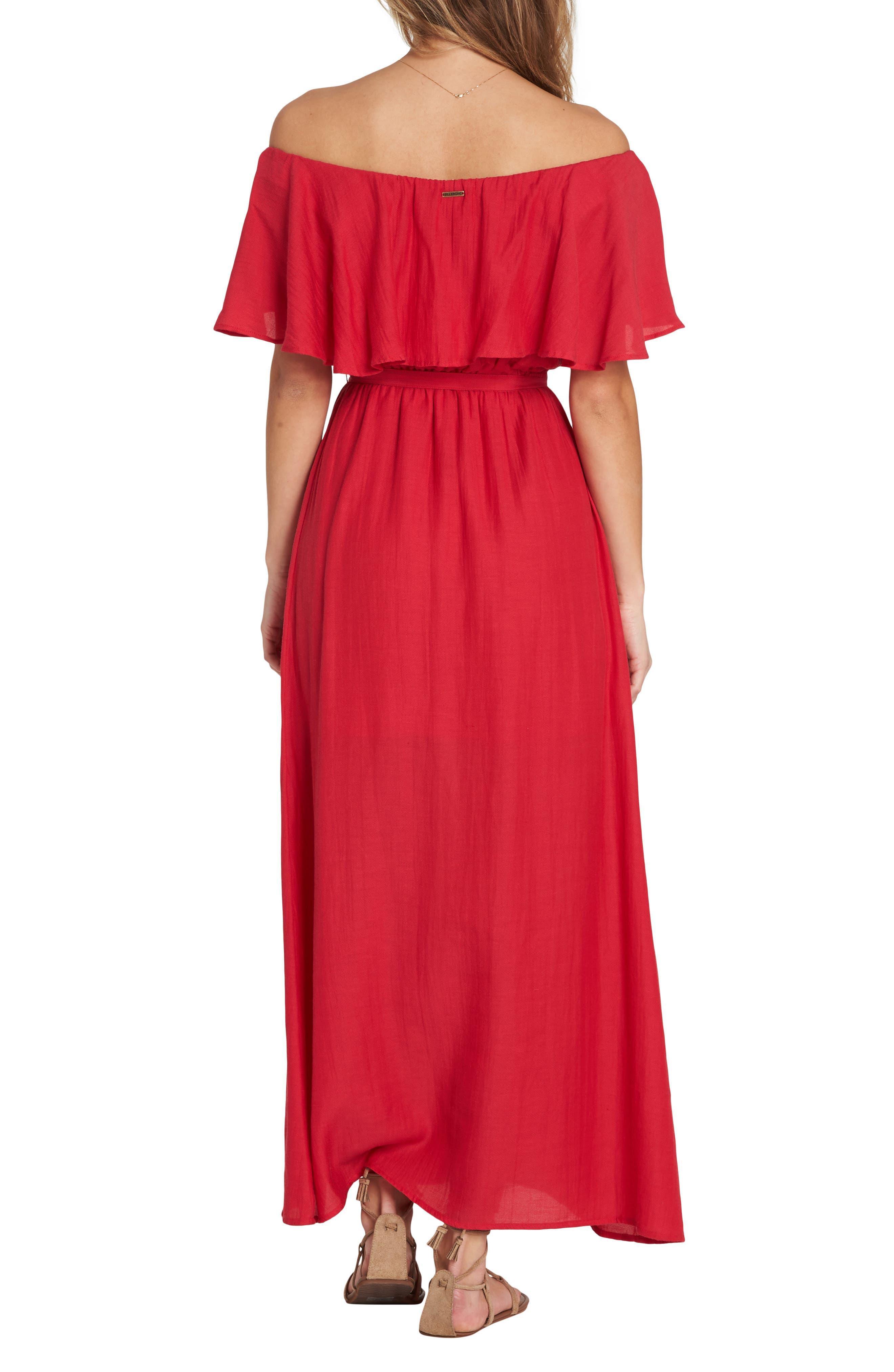 Dance All Night Maxi Dress,                             Alternate thumbnail 2, color,                             GARNET