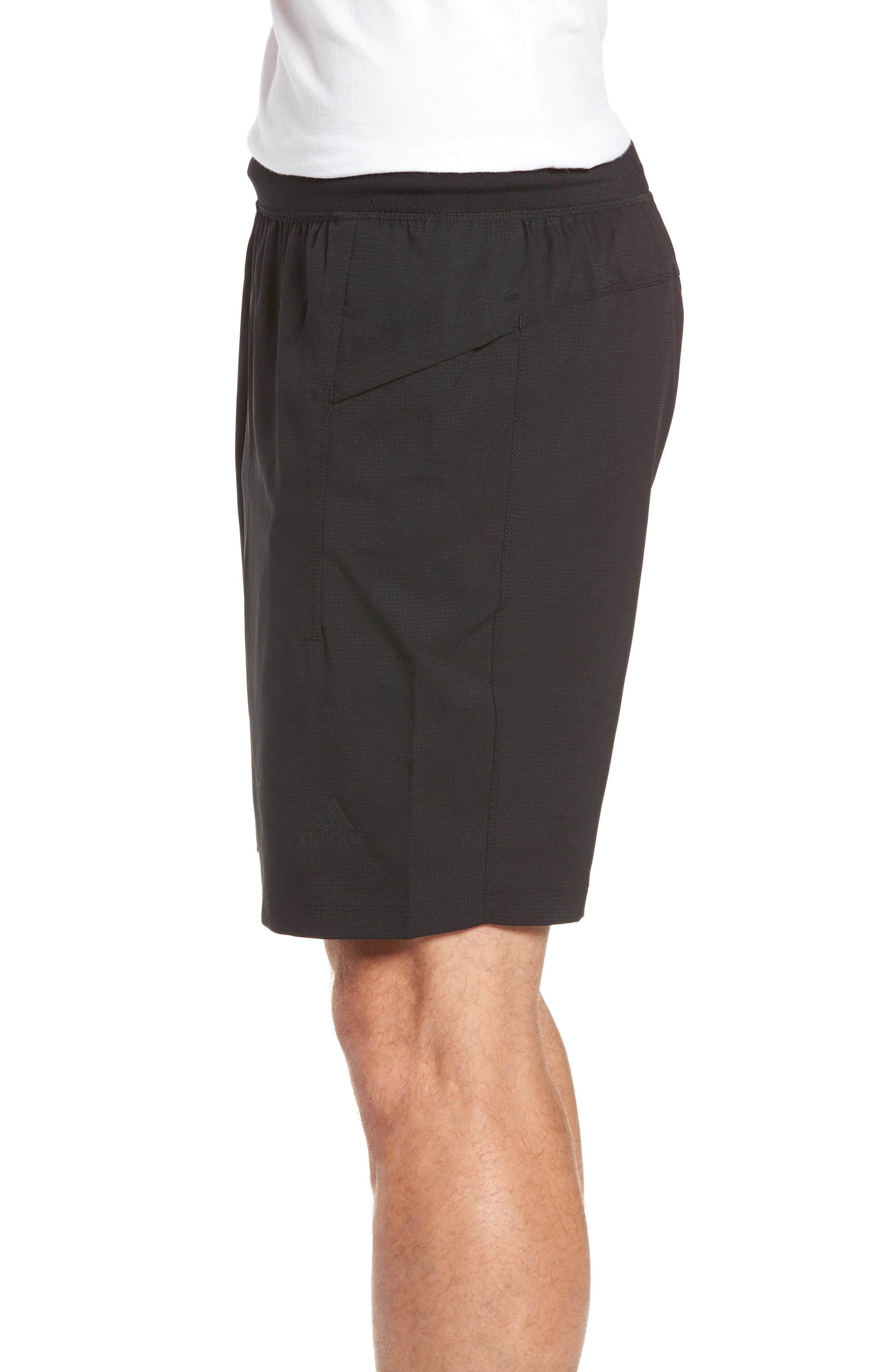 Camo Hype Reflective Regular Fit Shorts,                             Alternate thumbnail 3, color,                             001
