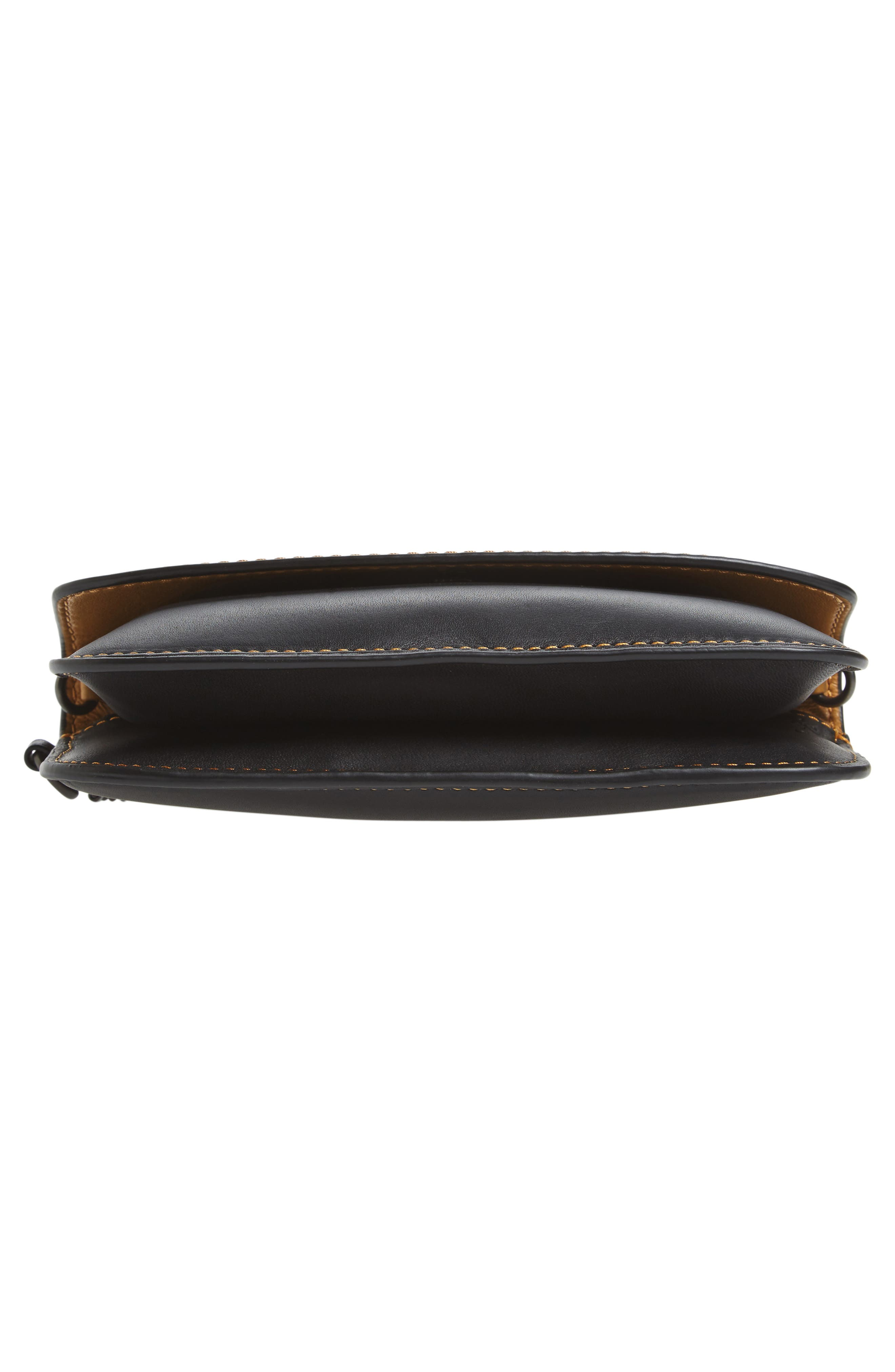Leather Clutch,                             Alternate thumbnail 6, color,                             001