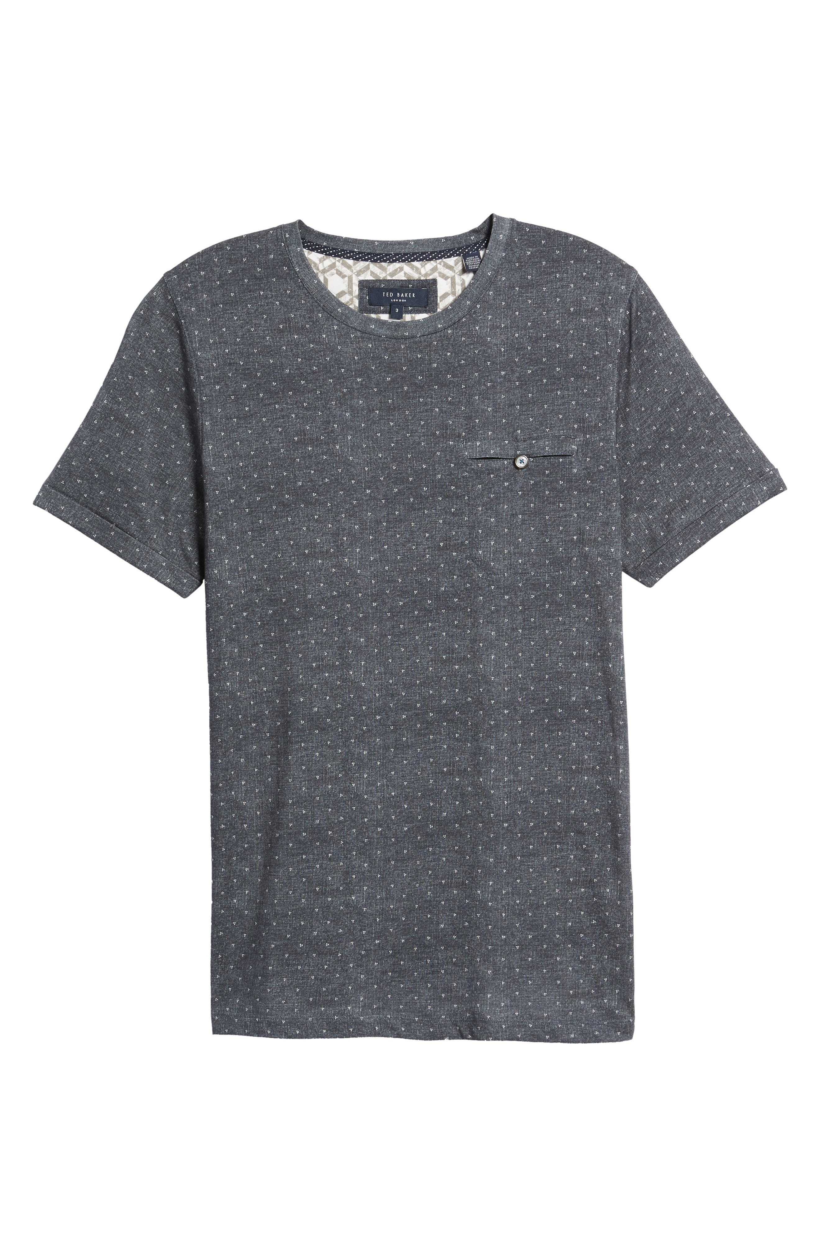 Giovani Modern Slim Fit Print T-Shirt,                             Alternate thumbnail 6, color,                             410