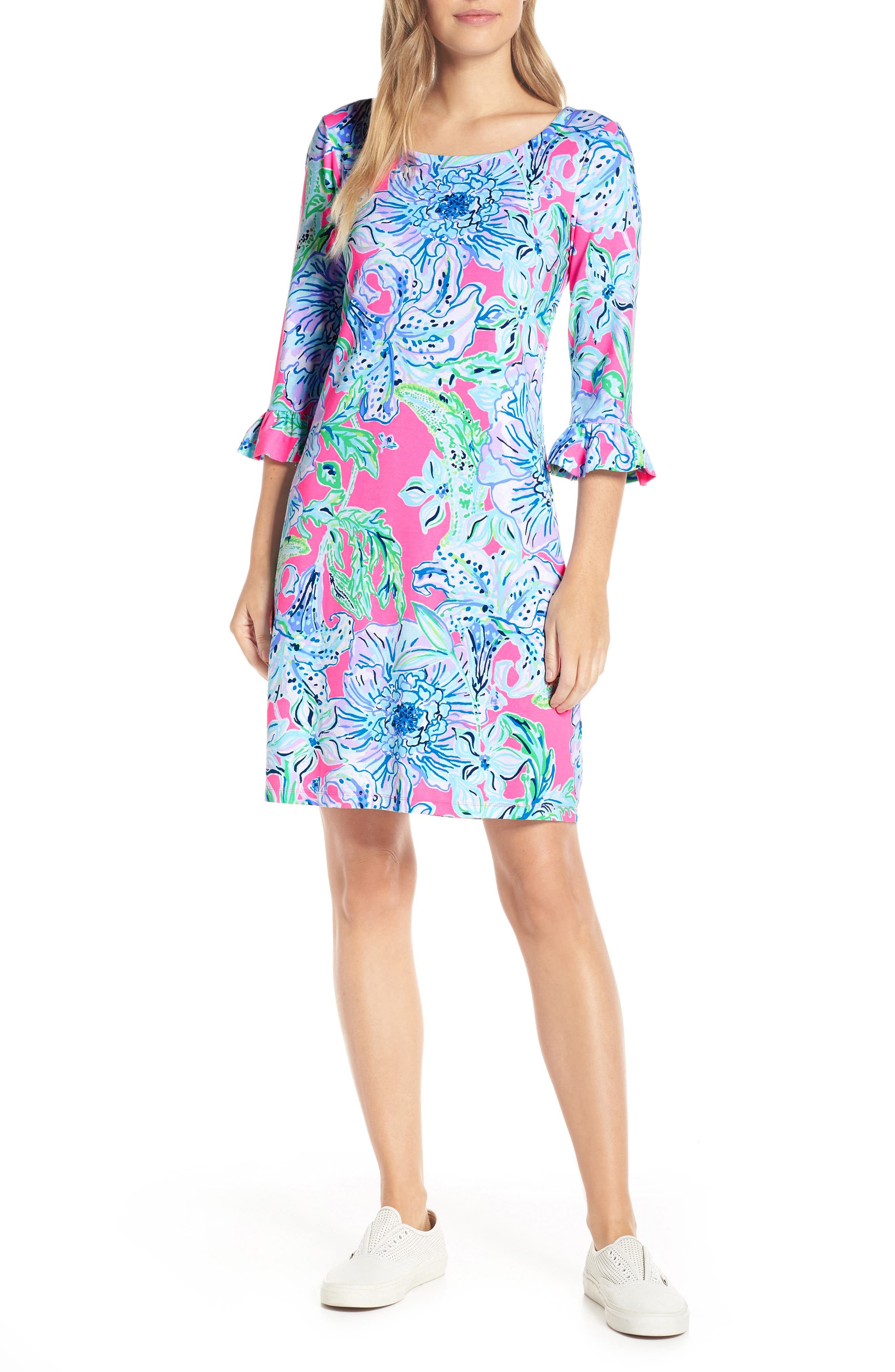 Lilly Pulitzer Sophie Upf 50+ Shift Dress, Pink