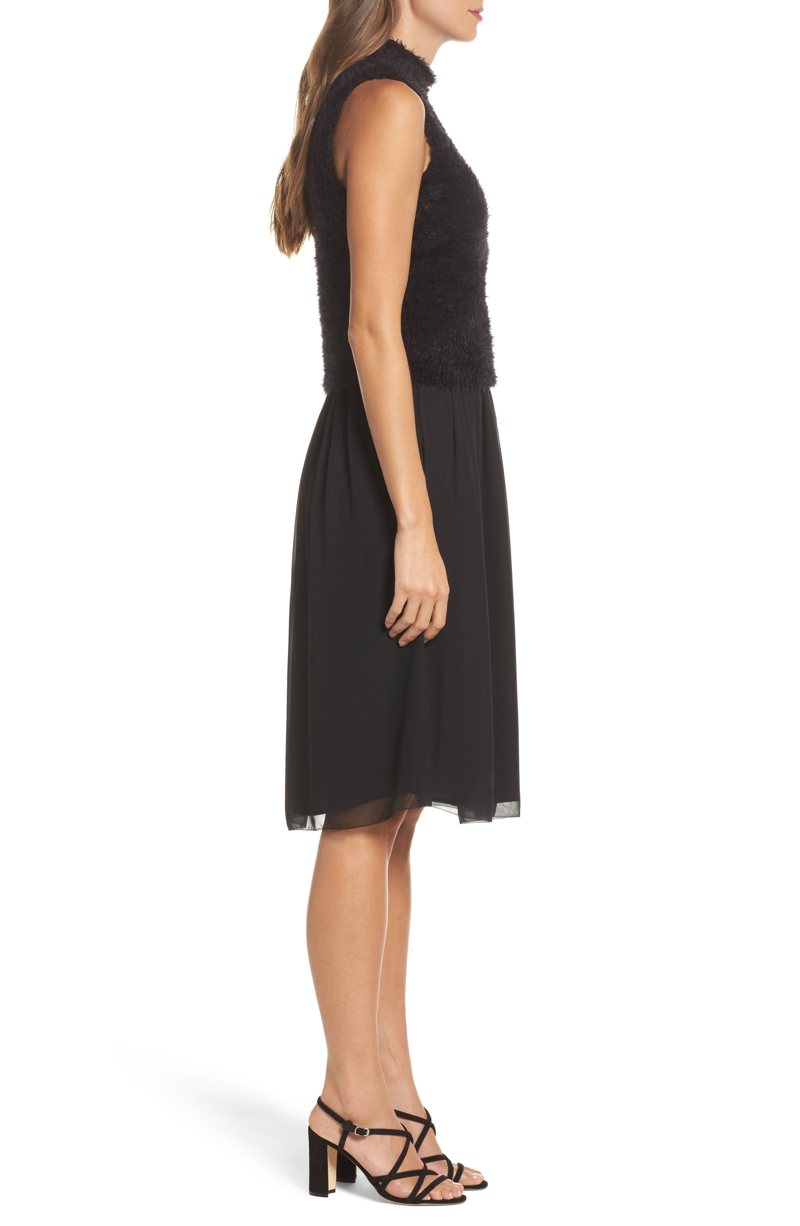NIC + ZOE Lace-Up Dress,                             Alternate thumbnail 3, color,                             004