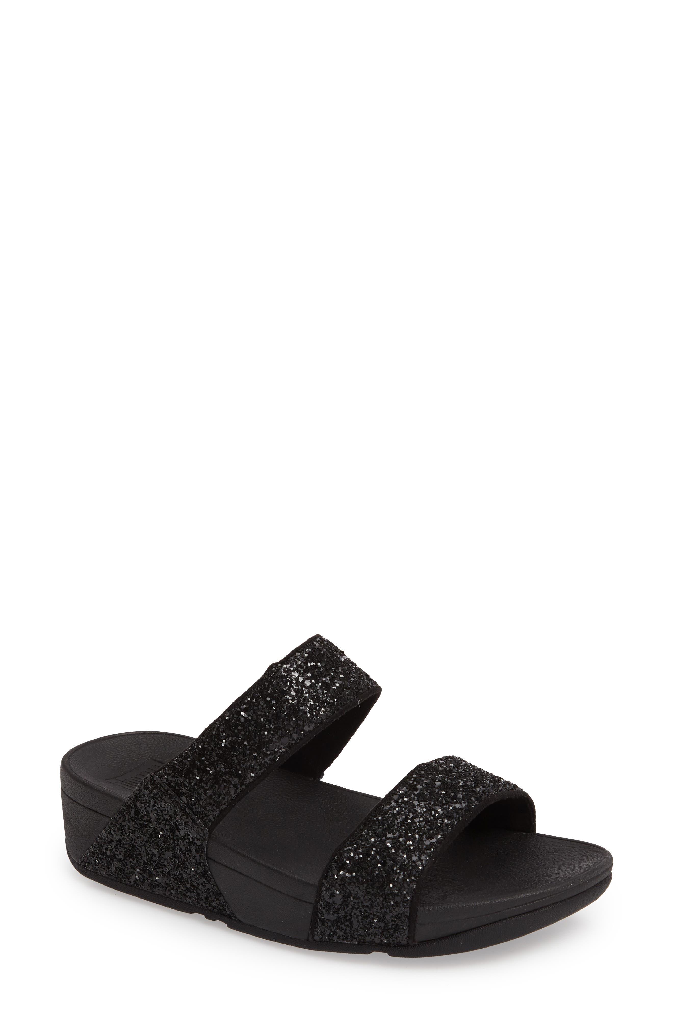 Glitterball Slide Sandal,                         Main,                         color, 001
