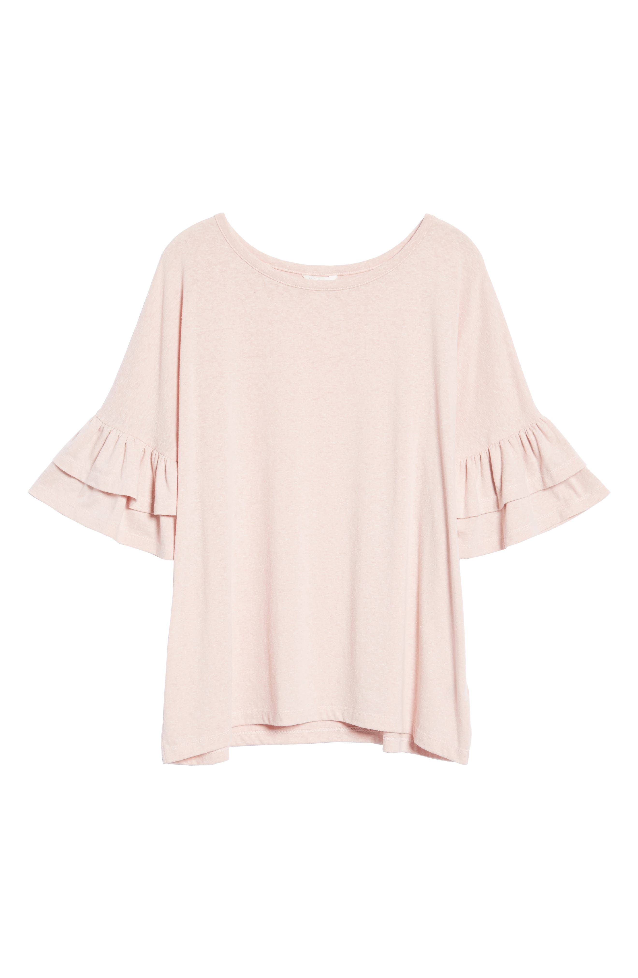 Tiered Bell Sleeve Tee,                             Alternate thumbnail 42, color,