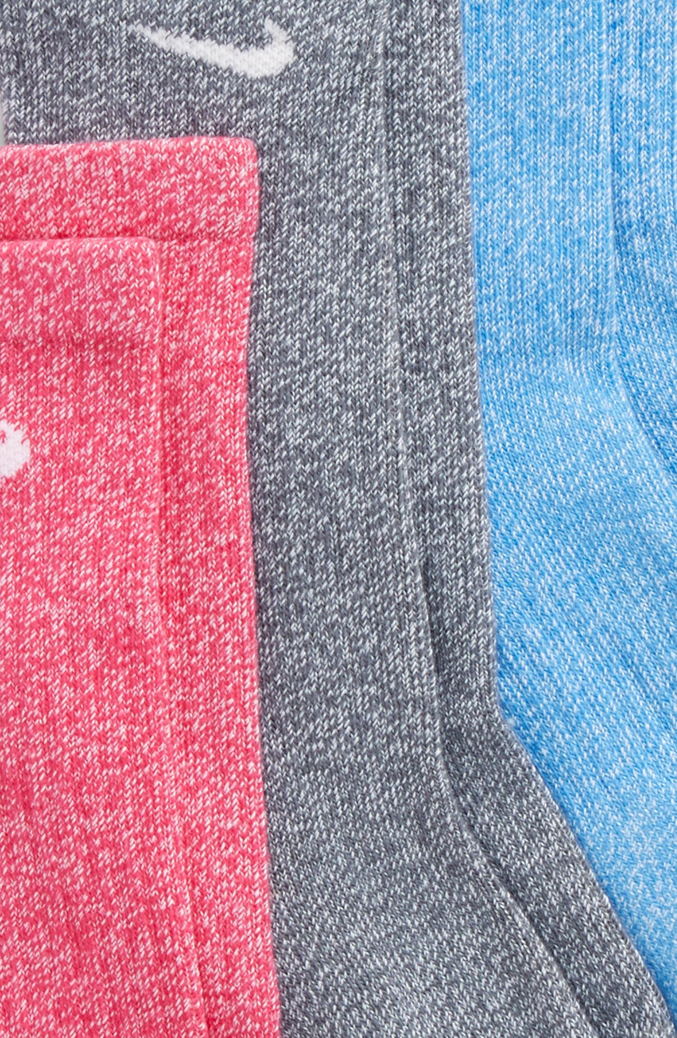 Performance 3-Pack Cushioned Crew Socks,                             Alternate thumbnail 6, color,