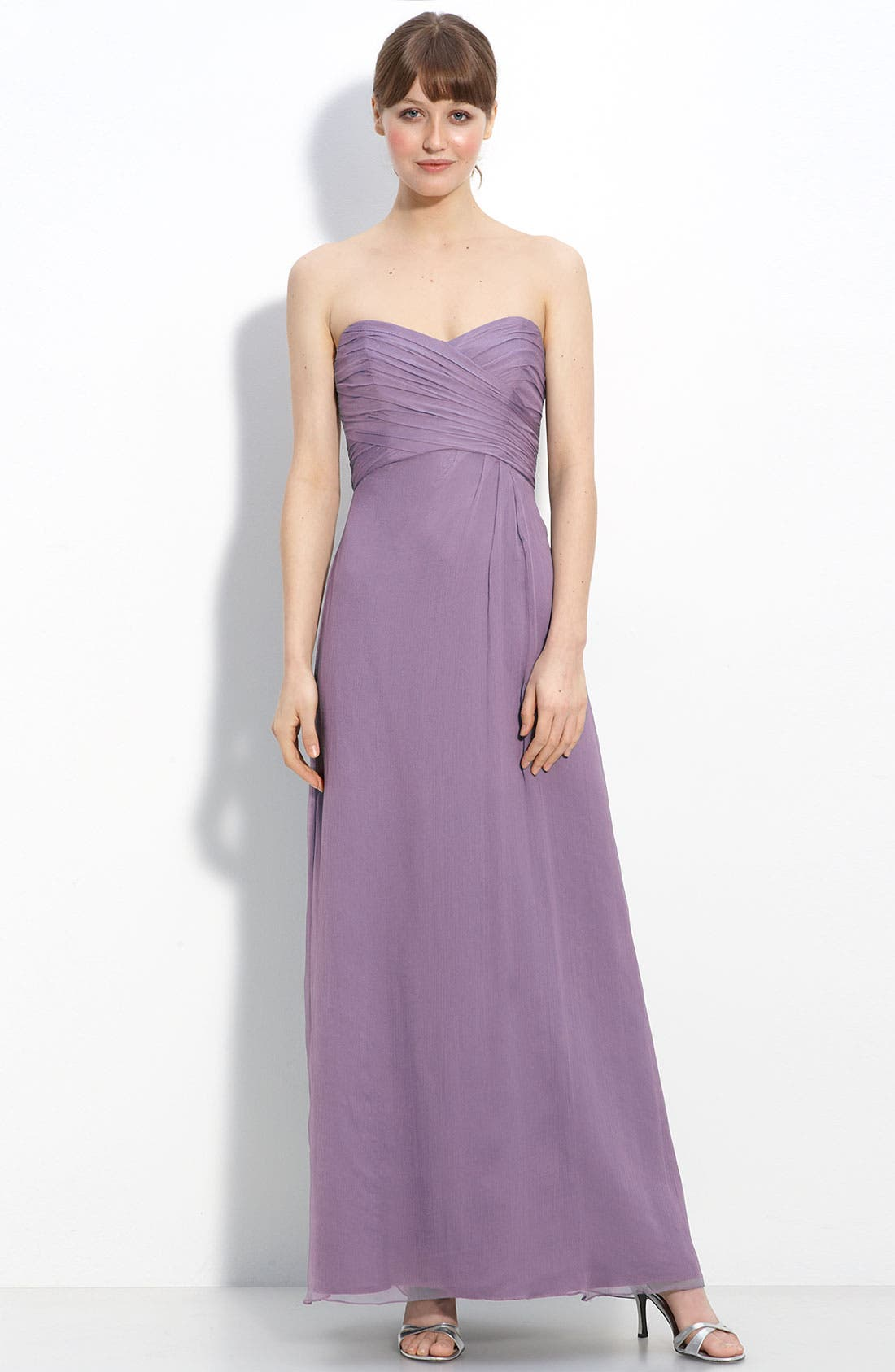 Strapless Crinkle Chiffon Gown,                             Main thumbnail 11, color,