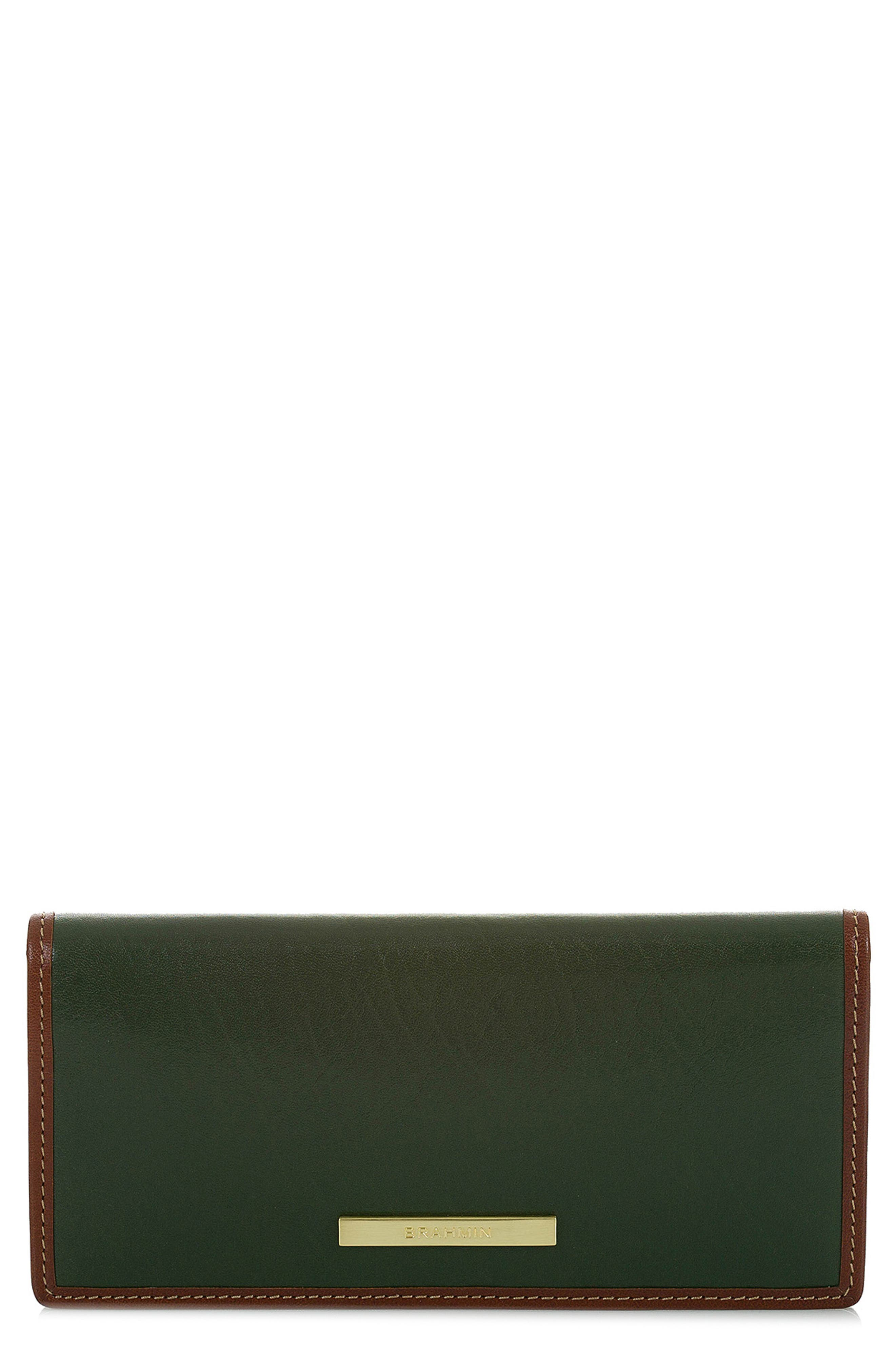 Ady Leather Wallet,                             Main thumbnail 1, color,                             HUNTER