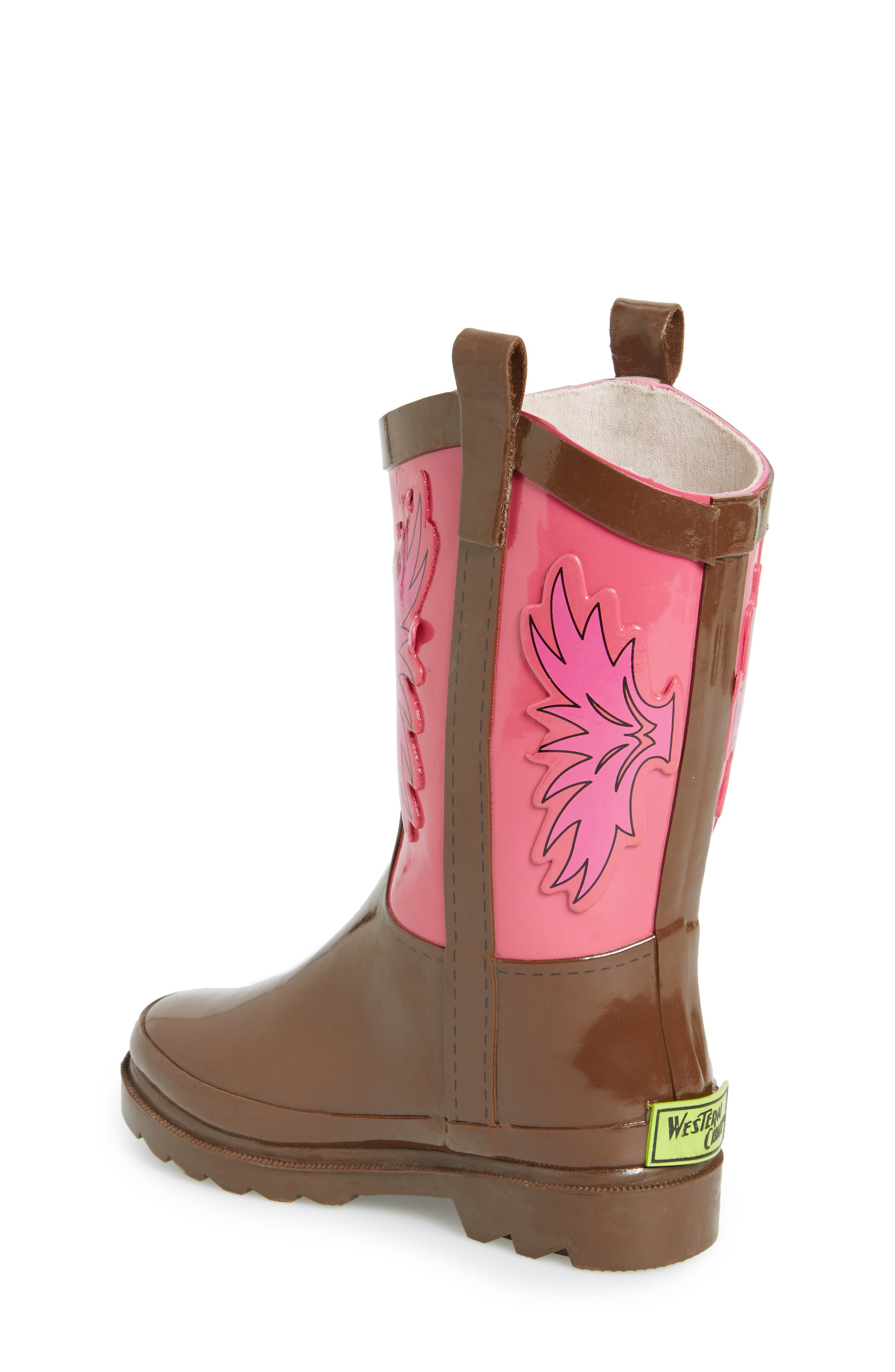 Cowgirl Waterproof Rain Boot,                             Alternate thumbnail 2, color,                             680