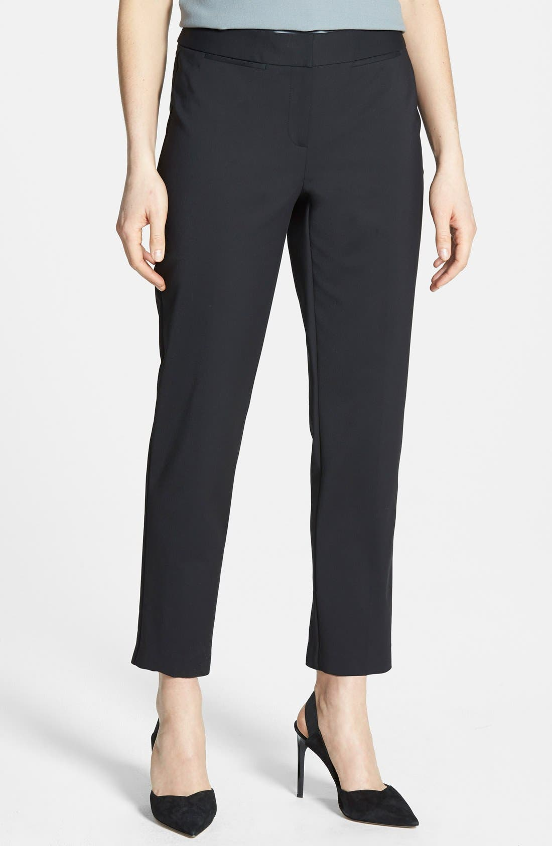 NORDSTROM COLLECTION,                             'Veloria' Slim Ankle Pants,                             Main thumbnail 1, color,                             001