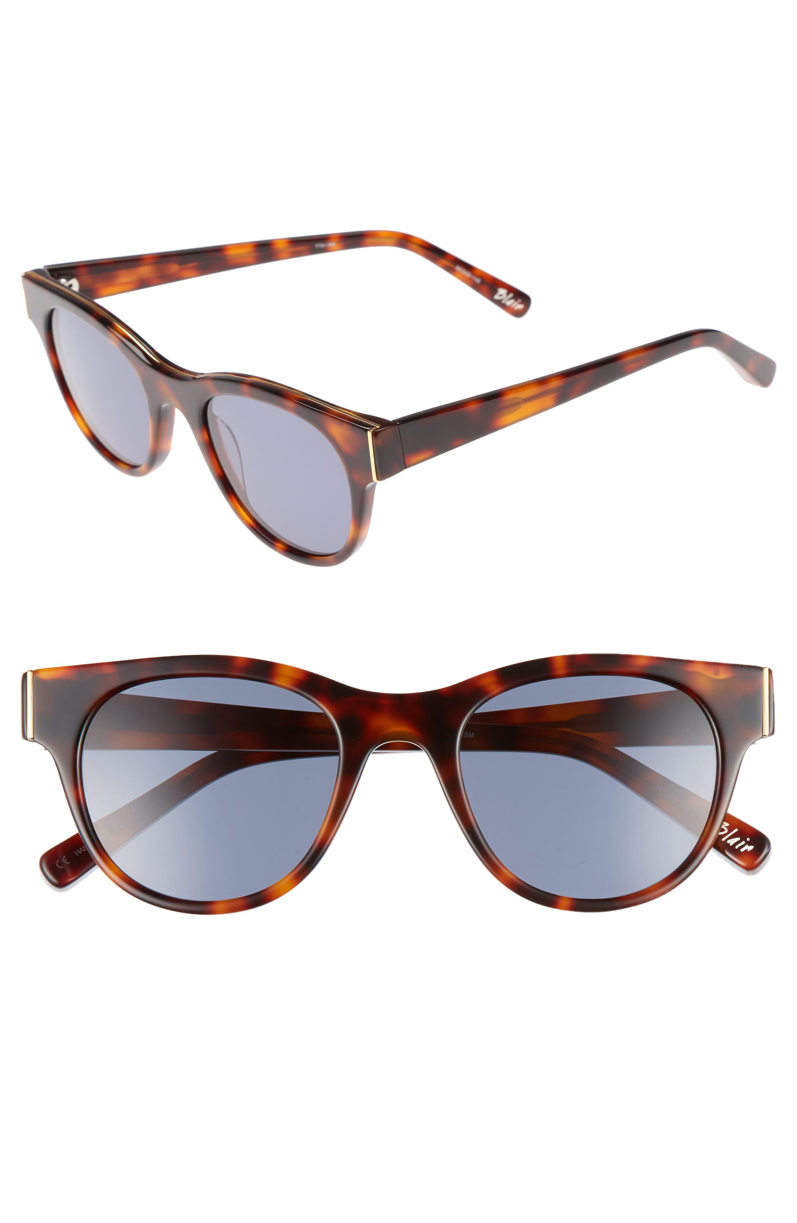 Blair 50mm Cat Eye Sunglasses,                         Main,                         color, 020
