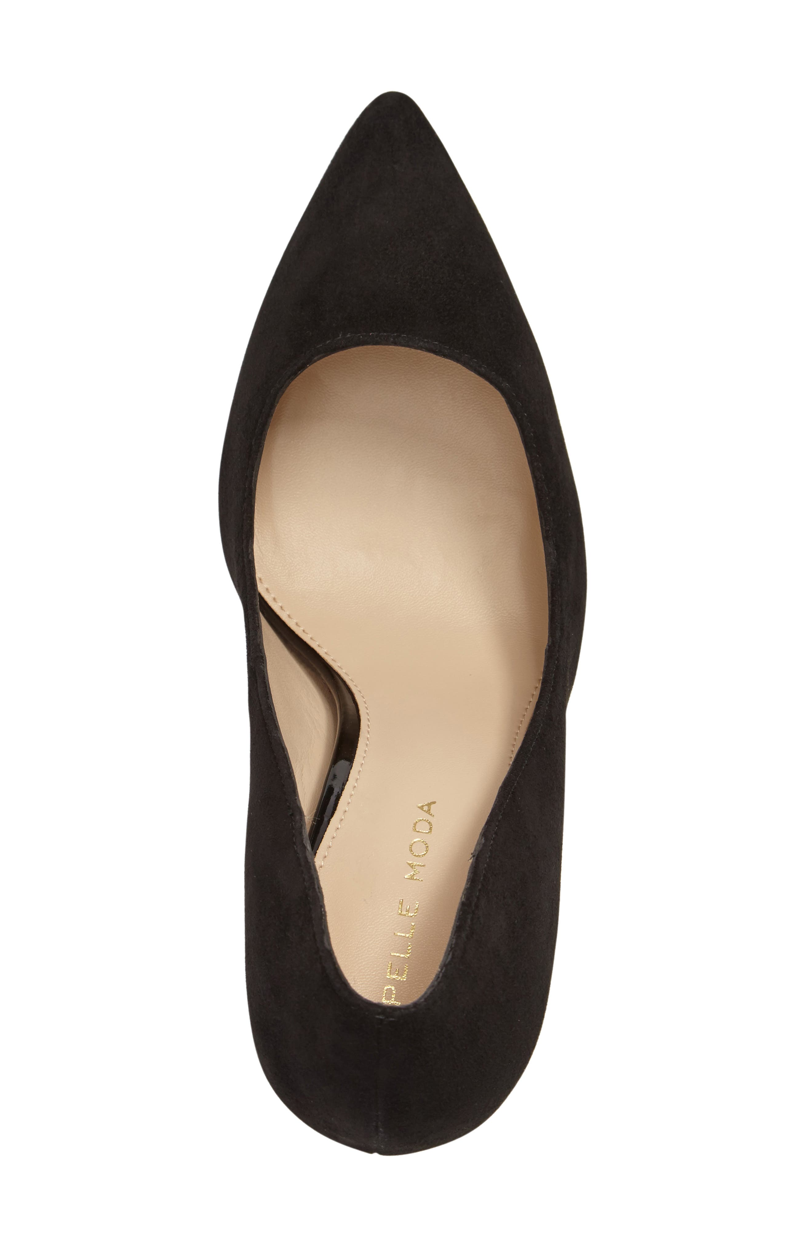 Vally Pointy Toe Pump,                             Alternate thumbnail 3, color,                             001