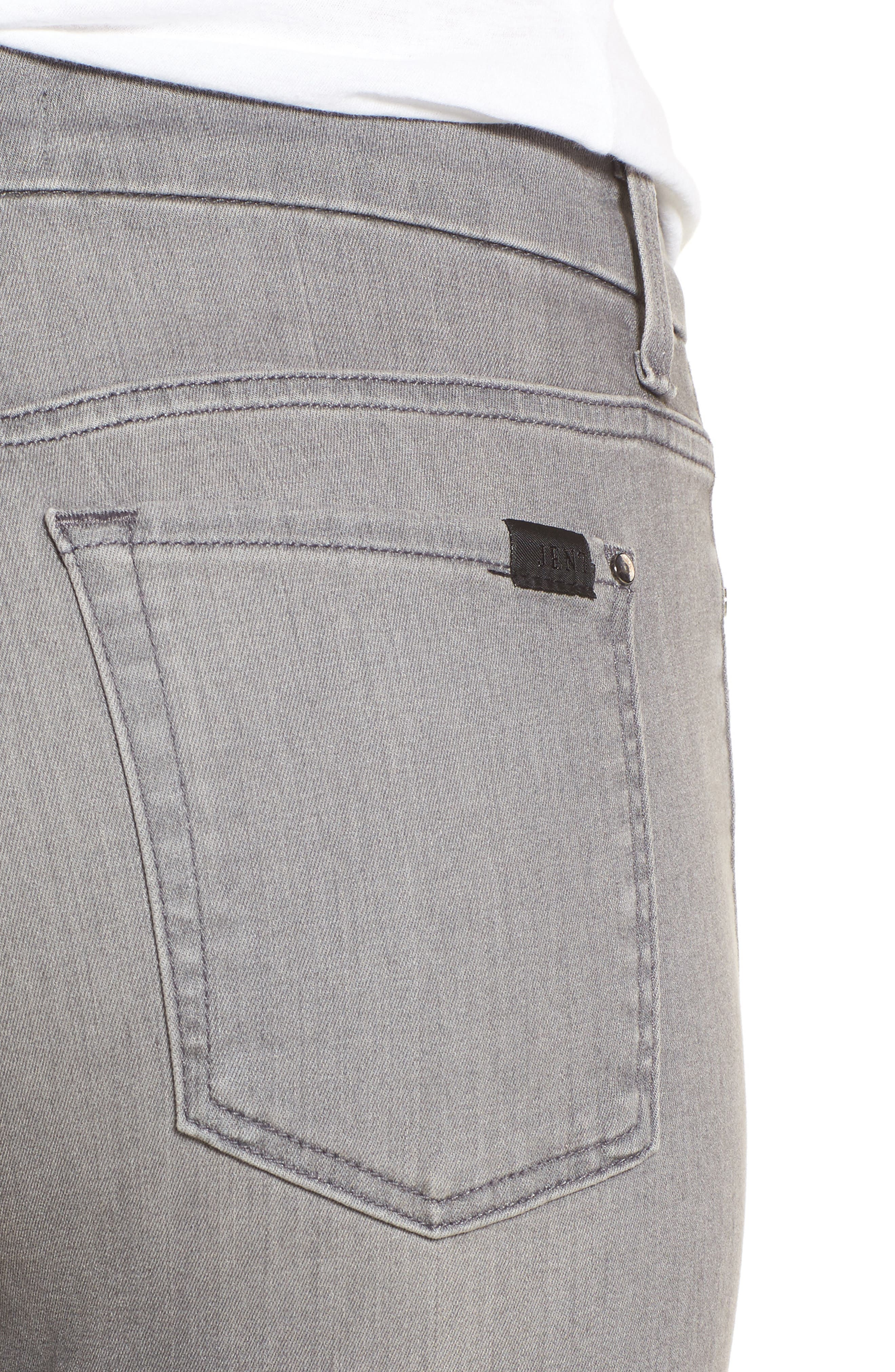Stretch Ankle Skinny Jeans,                             Alternate thumbnail 4, color,                             RICHE TOUCH MARBLE GREY