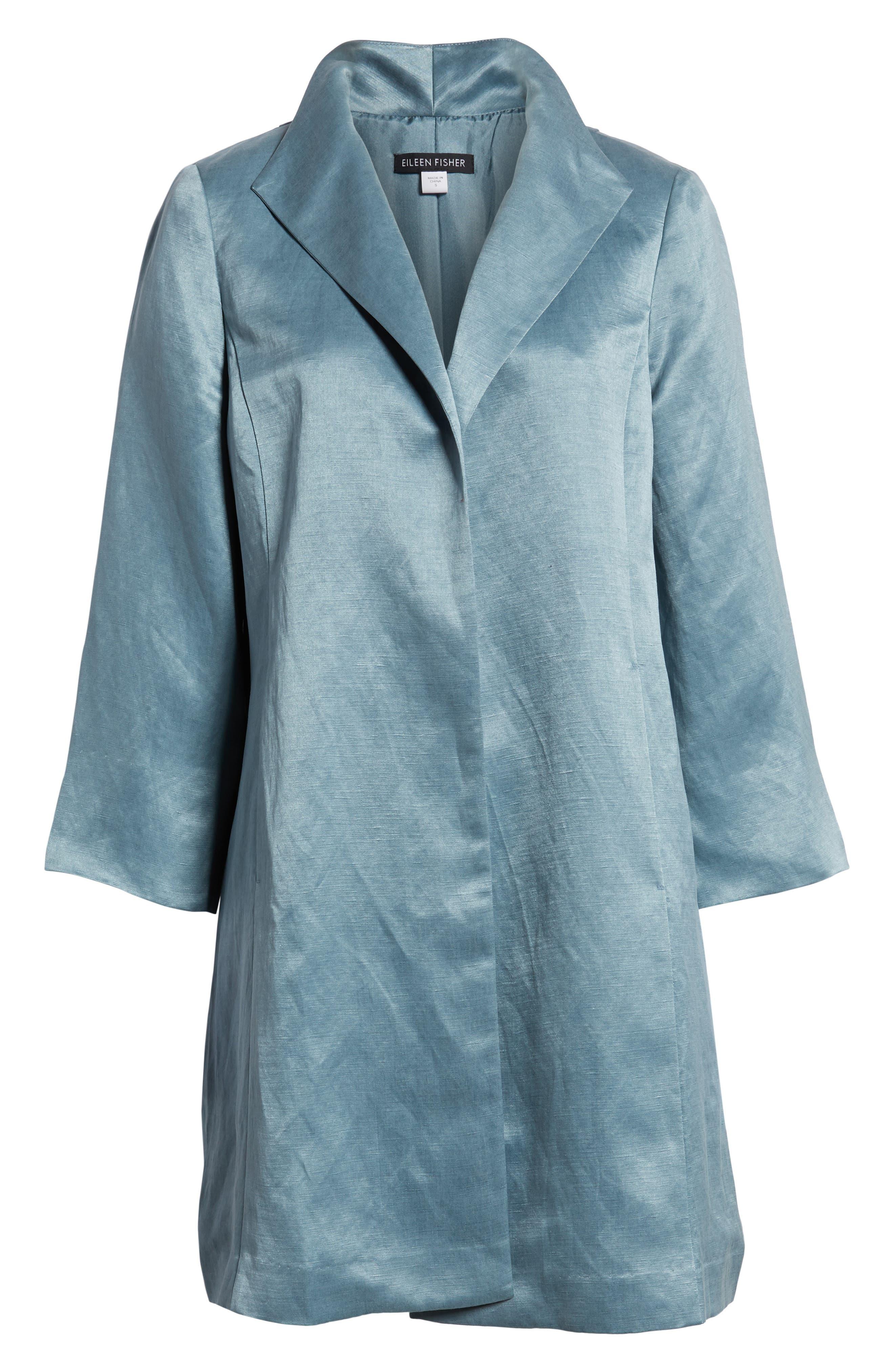 High Collar Long Jacket,                             Alternate thumbnail 23, color,