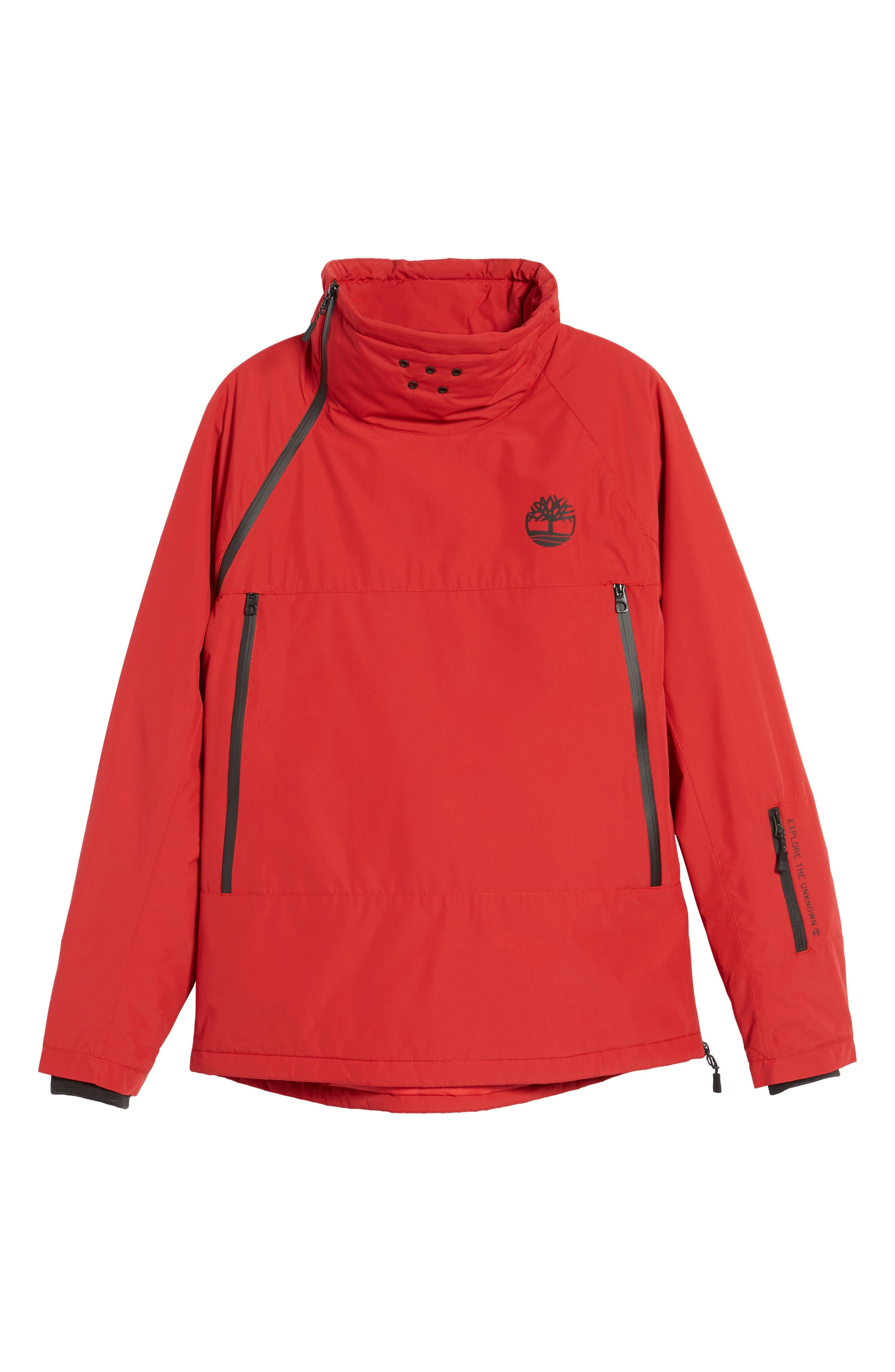 Asymmetrical Water-Repellent Funnel Neck Pullover,                             Alternate thumbnail 10, color,