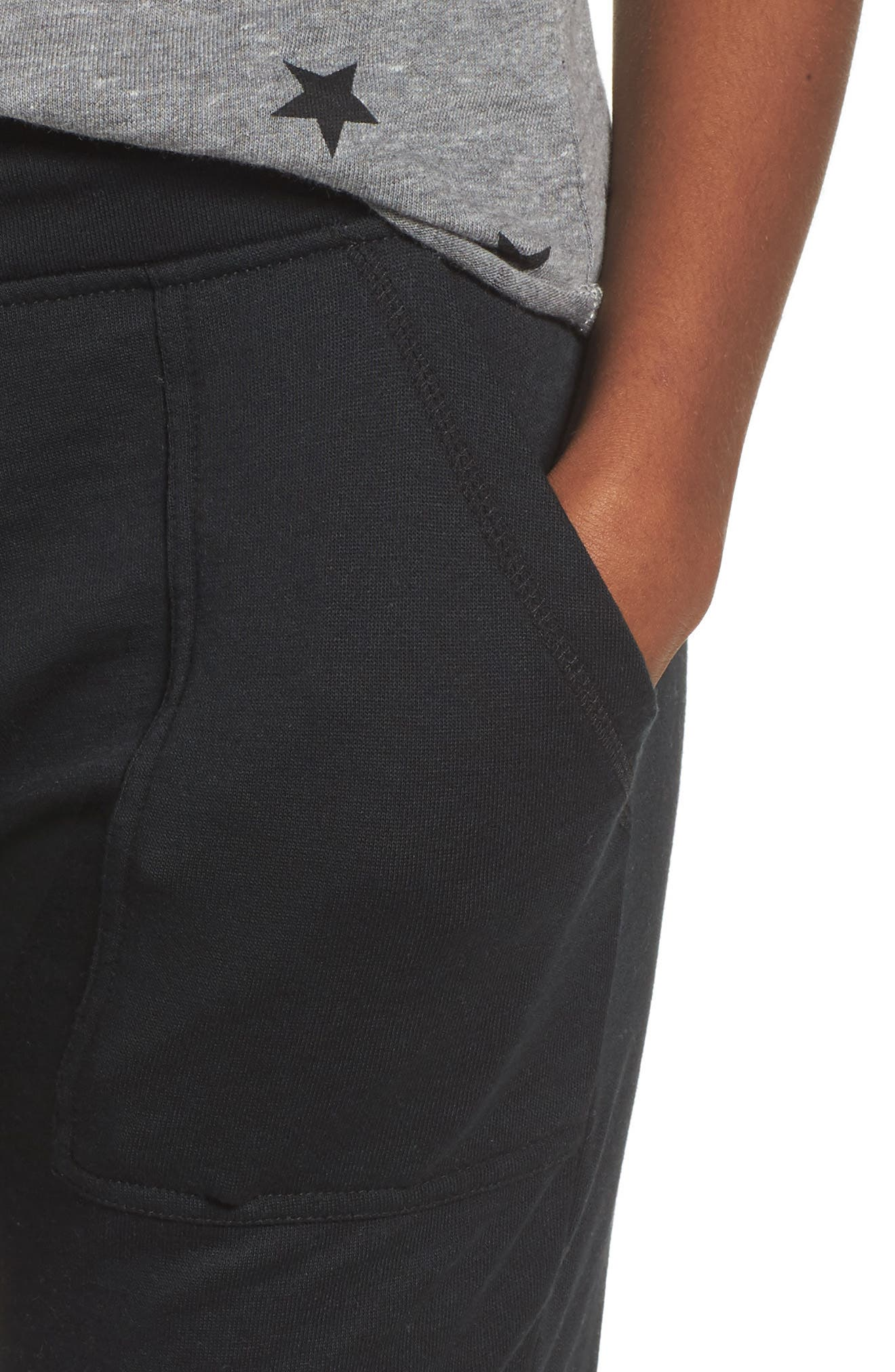 Long Weekend Pants,                             Alternate thumbnail 4, color,                             TRUE BLACK