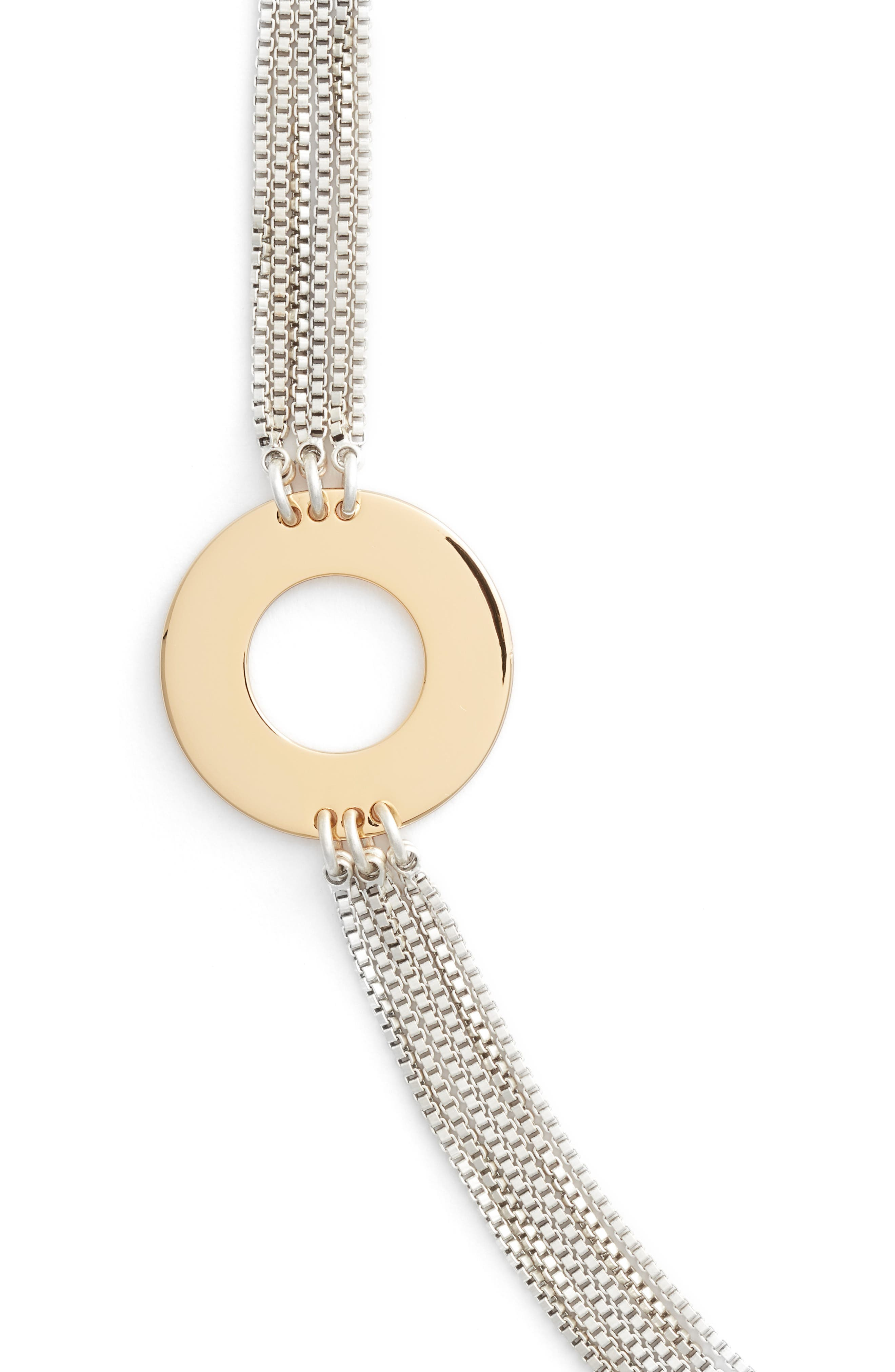 Carmine Open Disc Station Multistrand Necklace,                             Alternate thumbnail 2, color,                             TWO-TONE
