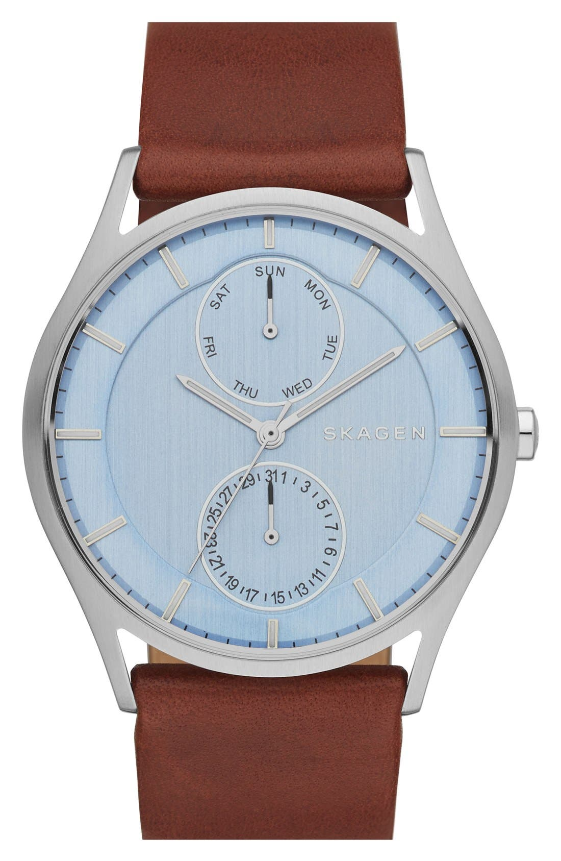 'Holst' Multifunction Leather Strap Watch, 40mm,                             Main thumbnail 4, color,