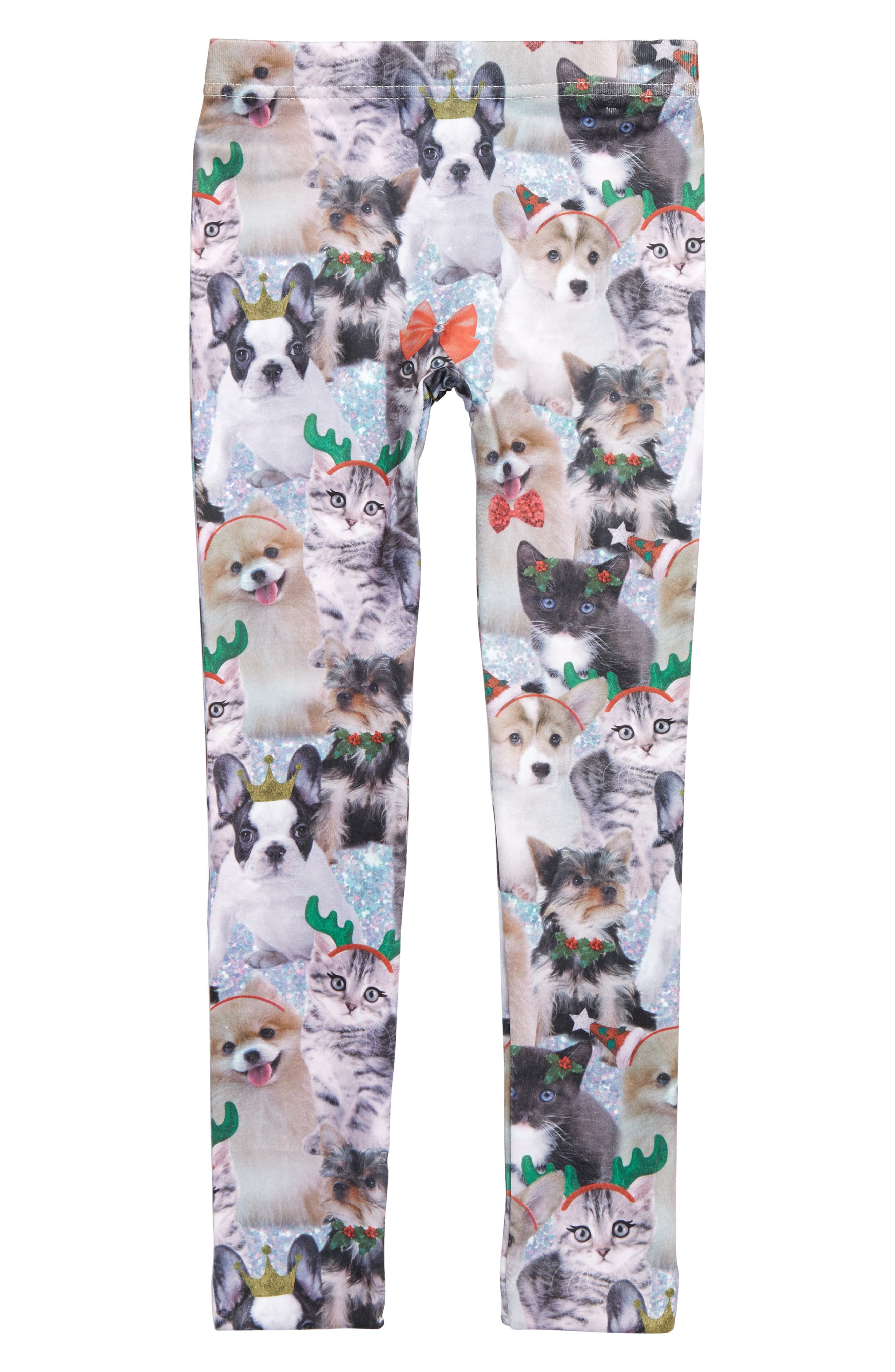 Critter Fleece Leggings,                             Main thumbnail 1, color,                             MULTI COMBO