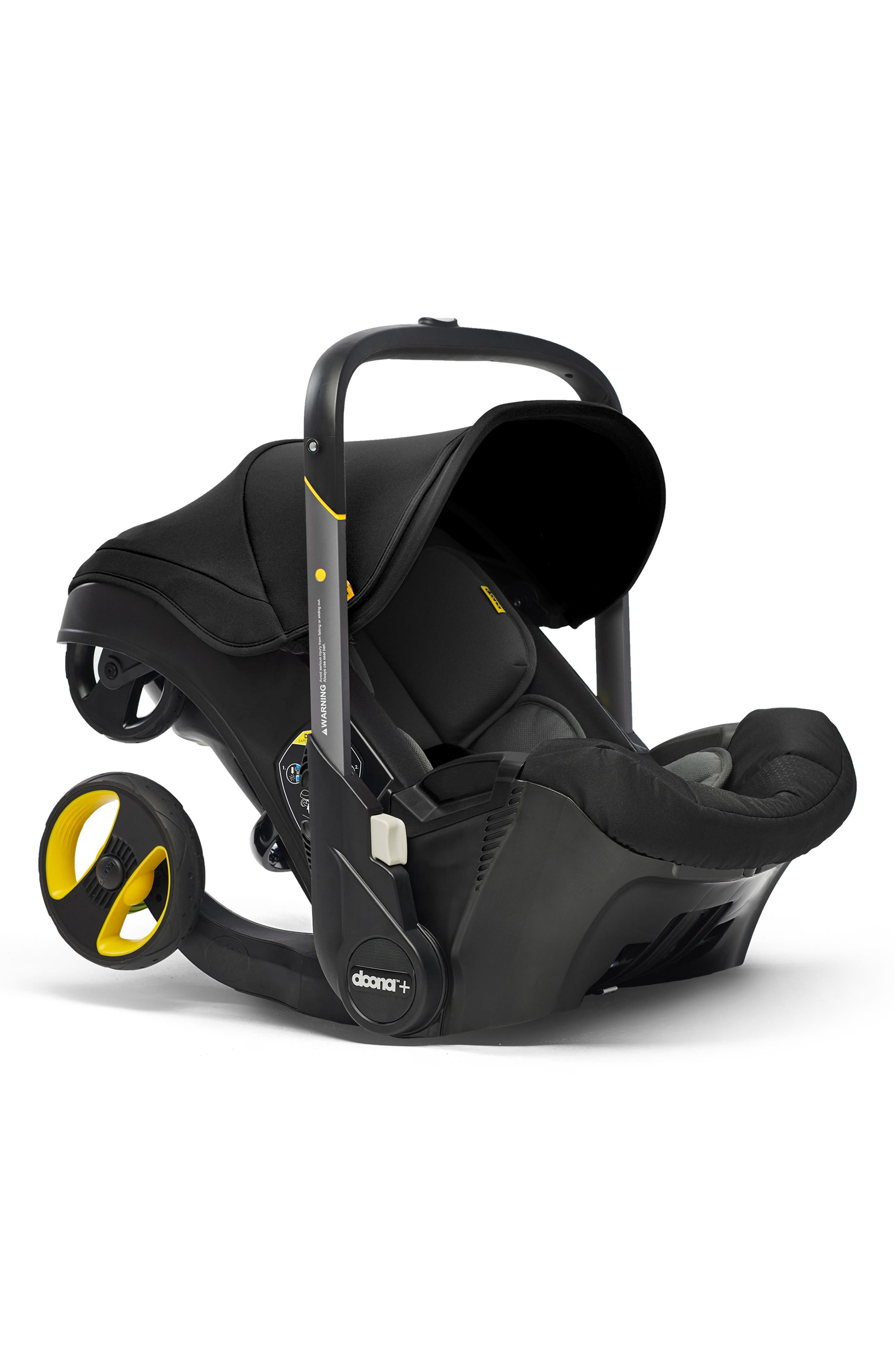 Convertible Infant Car Seat/Compact Stroller System with Base,                             Alternate thumbnail 5, color,                             BLACK/NIGHT