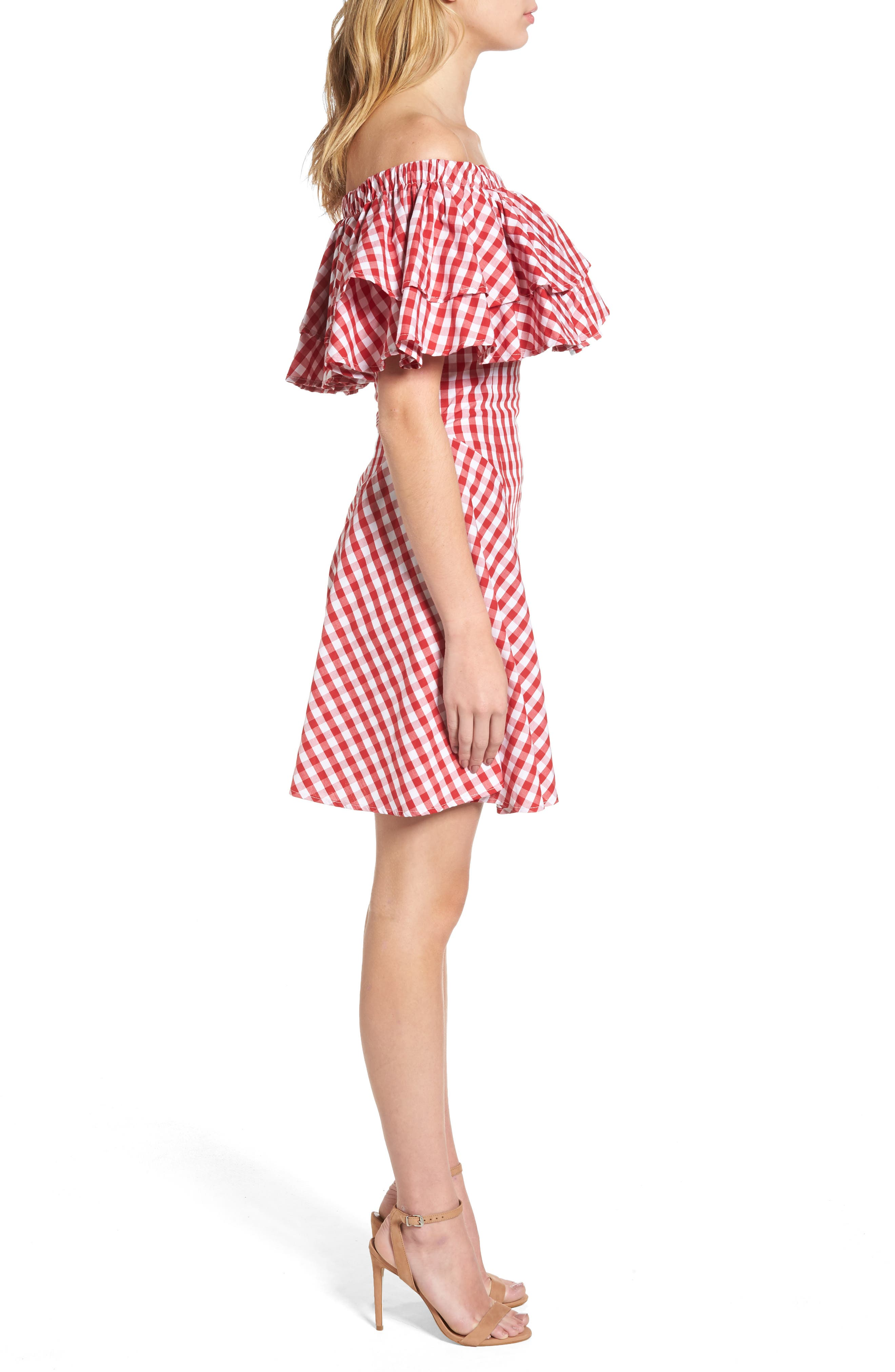 The Piper Ruffle A-Line Dress,                             Alternate thumbnail 3, color,                             600