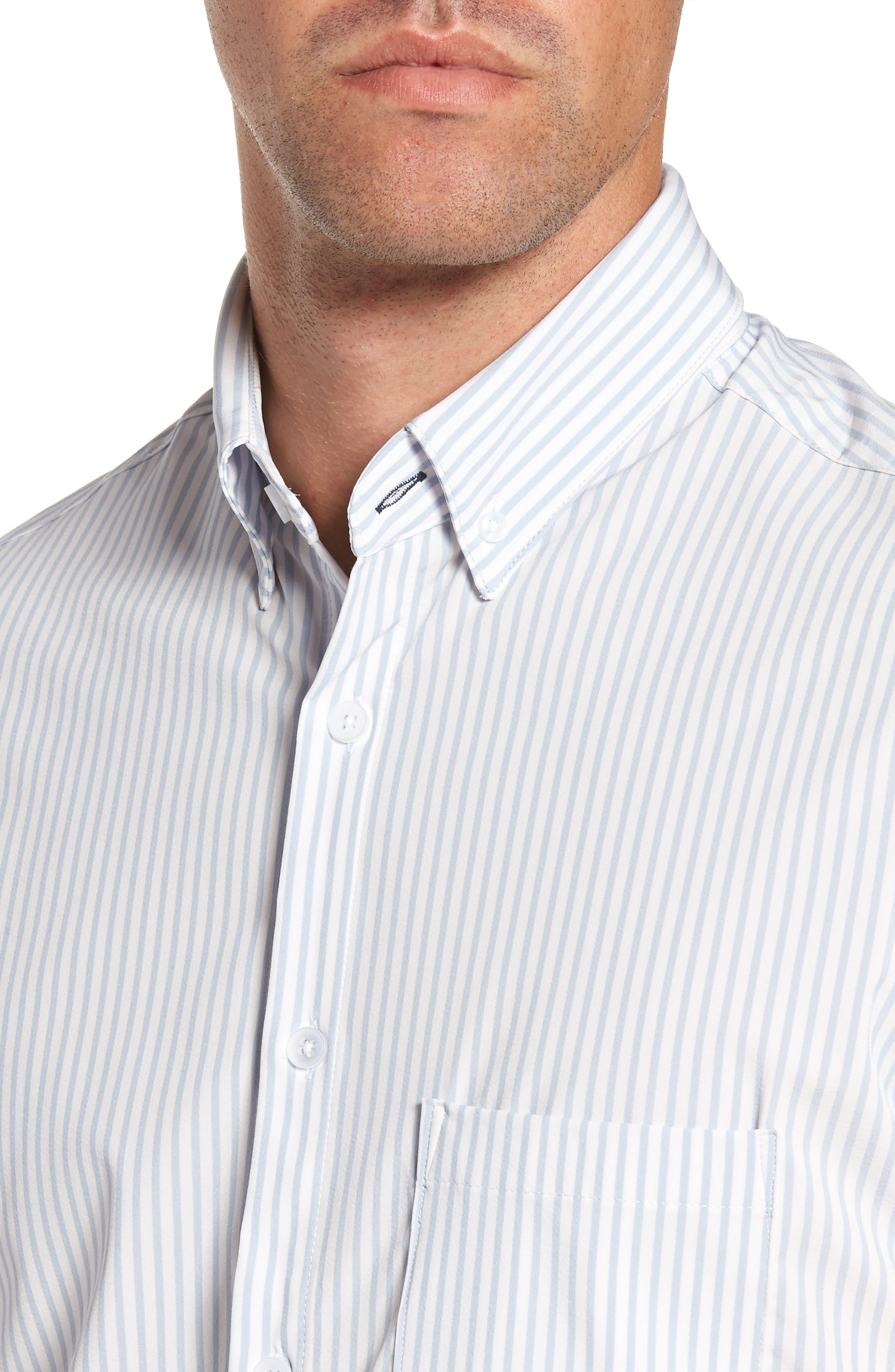 St. Elias Stripe Sport Shirt,                             Alternate thumbnail 4, color,                             100