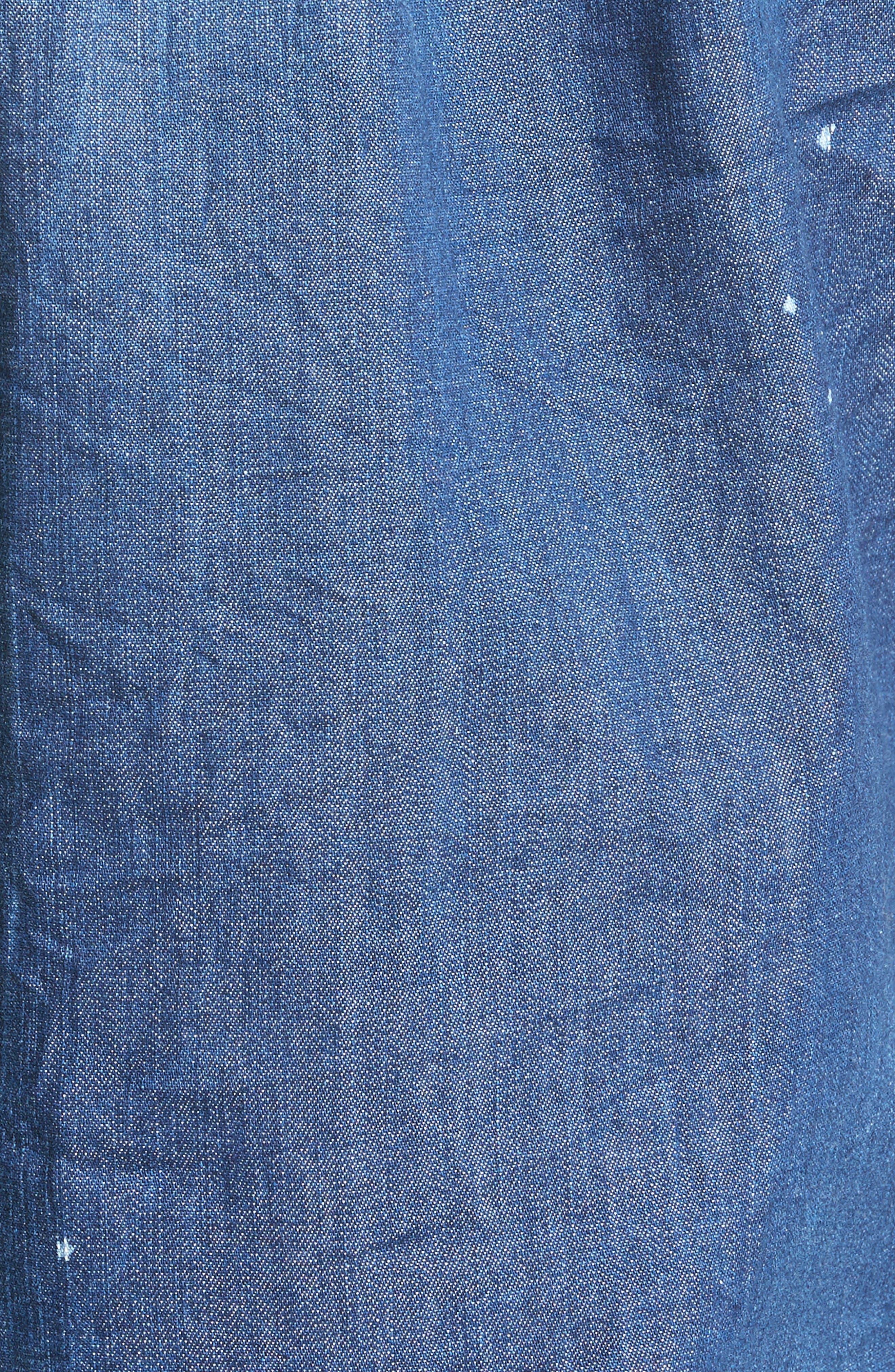 Extra Trim Fit Distressed Denim Sport Shirt,                             Alternate thumbnail 2, color,                             400